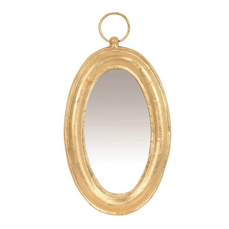 Gold Foil Covered Mirror (  25 X 48 X 3 Cm  )