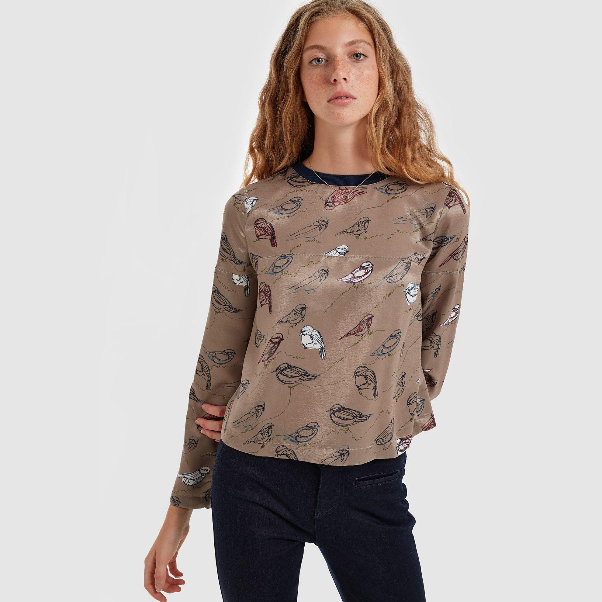 resm Fermuar Detaylı Bluz