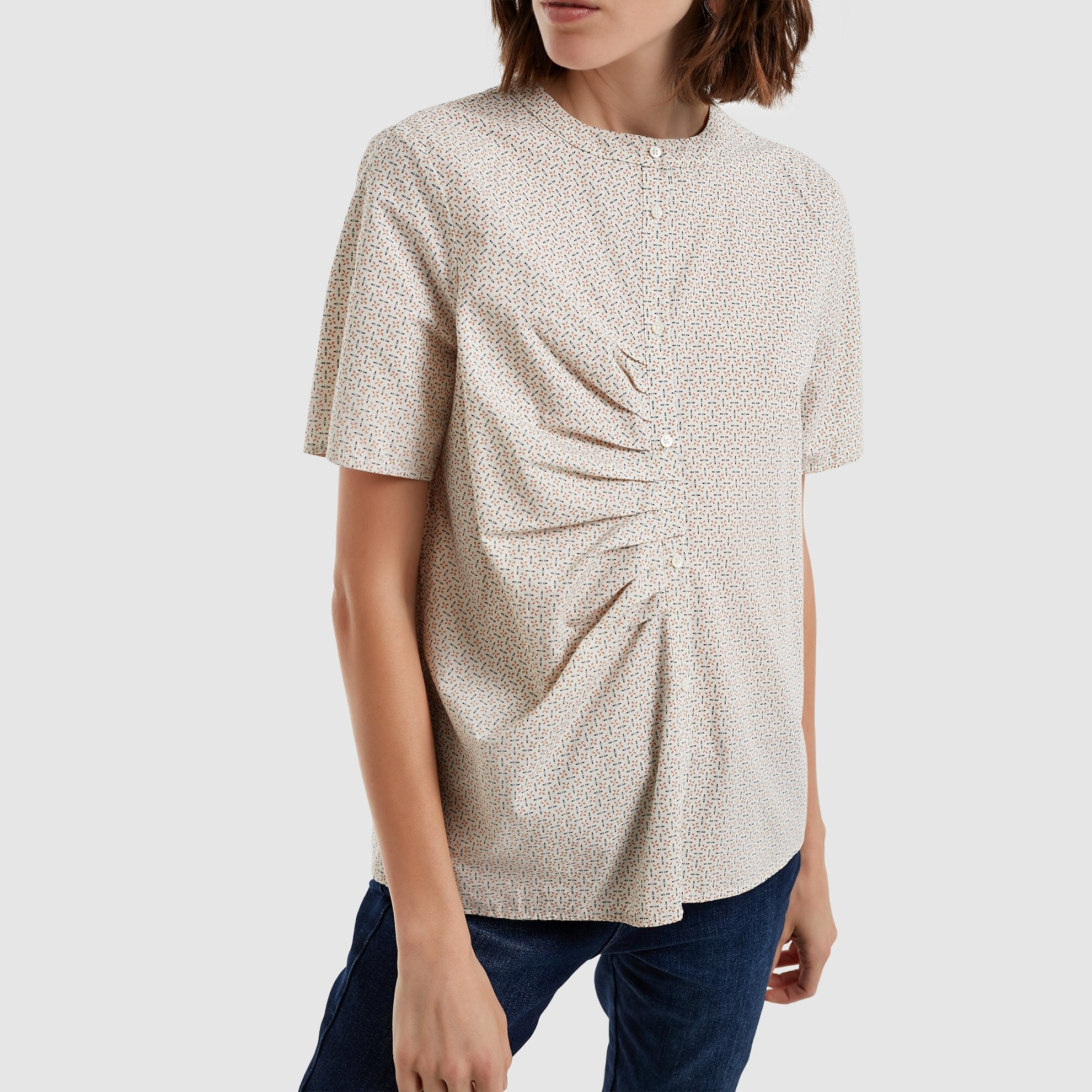 Pleat Detailed Shirt