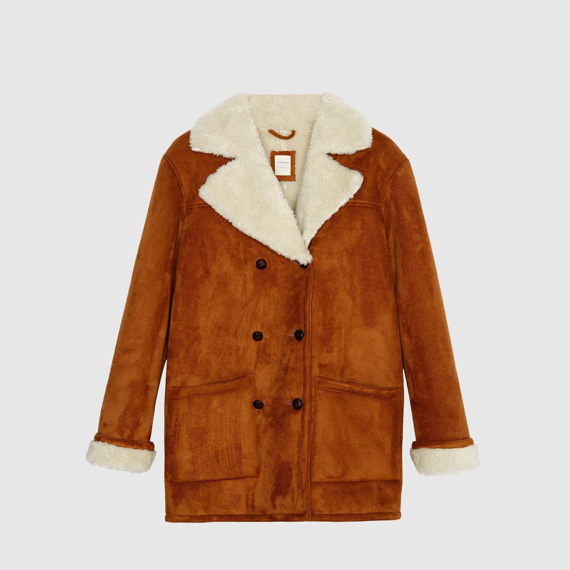 Kruvaze Kürk Detaylı Palto