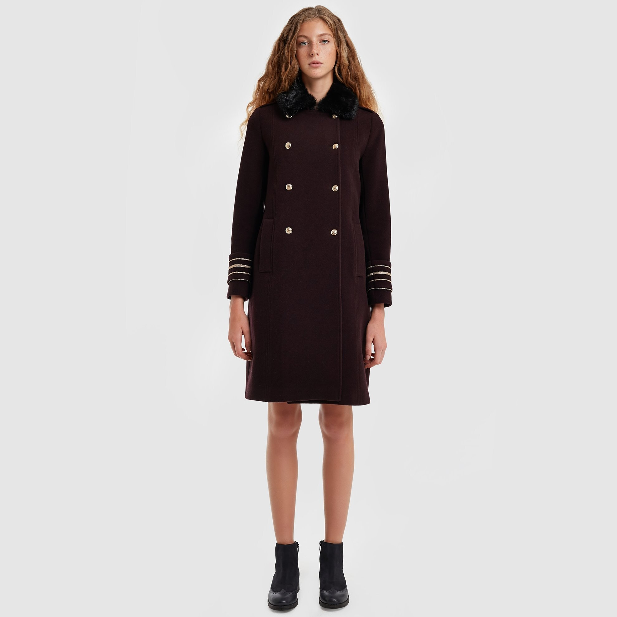 resm Yırtmaç Detaylı Palto