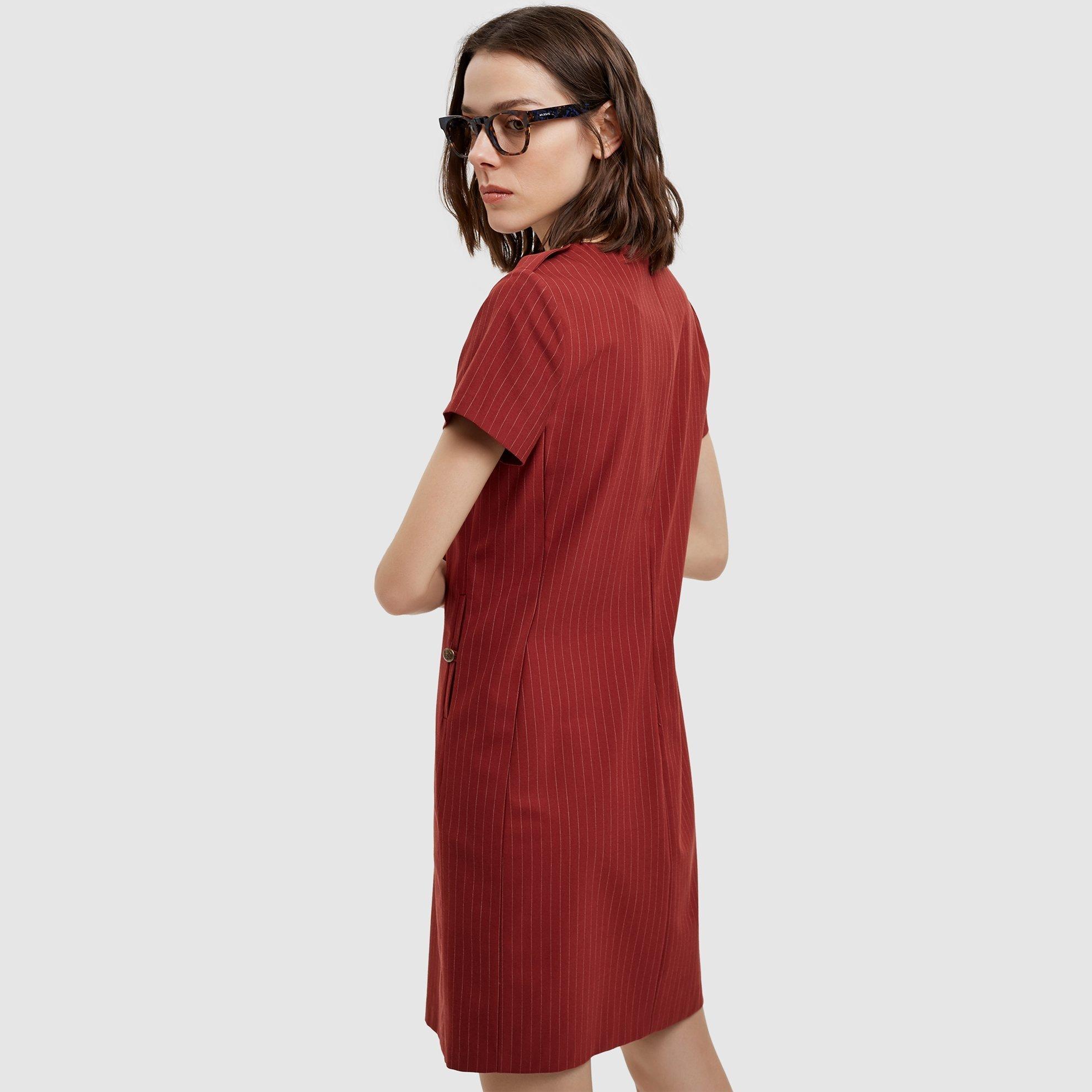 resm Düğme Detaylı Elbise