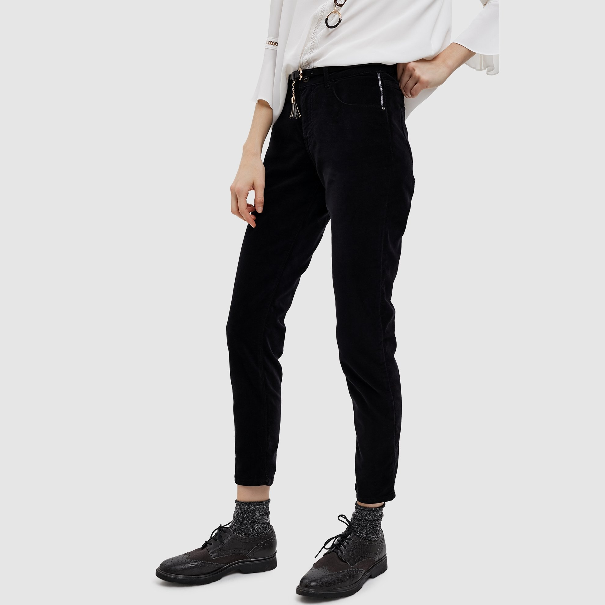 Corduroy Skinny Fit 5 Pocket Pants