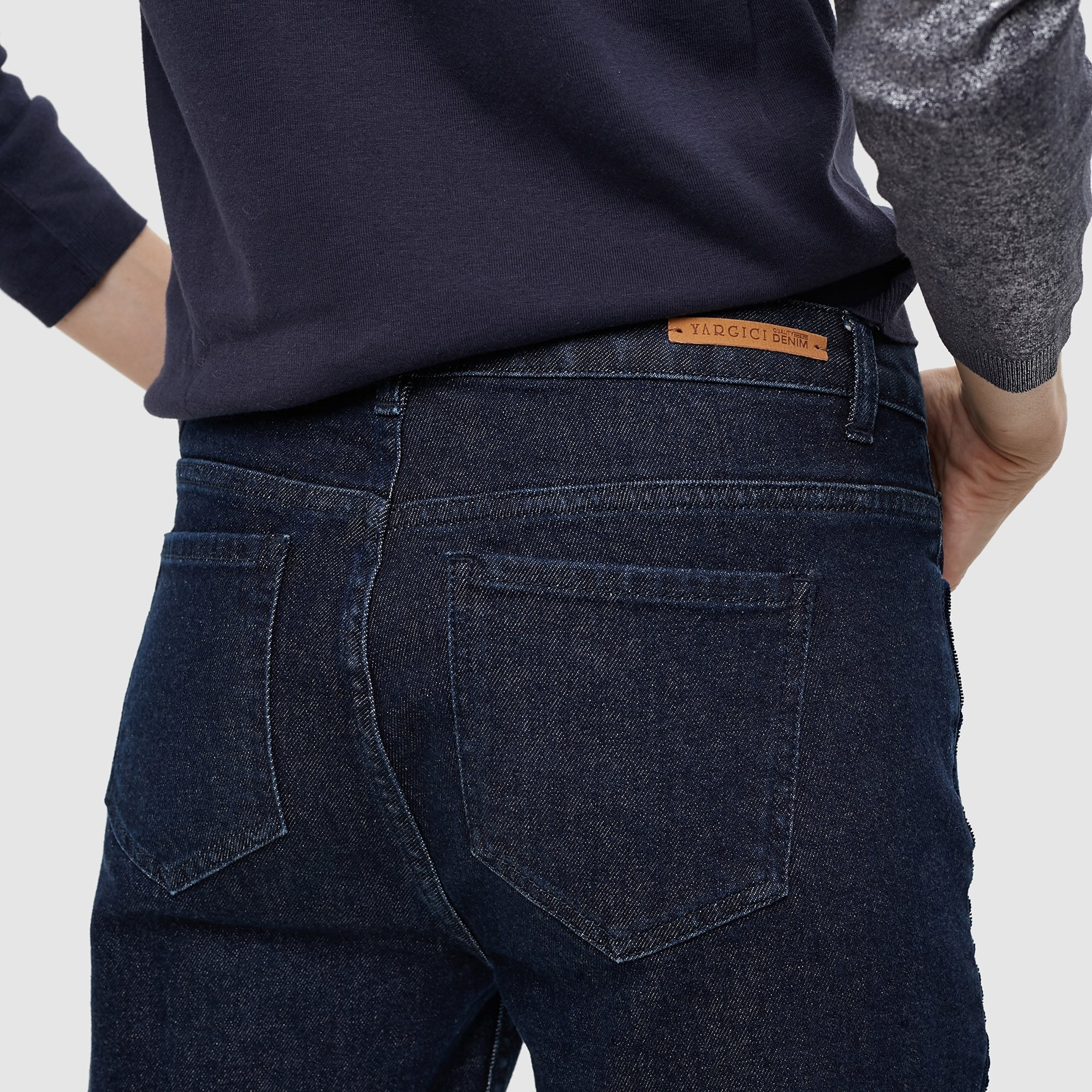 Contrast Detailed Slim Fit  Denim Pants