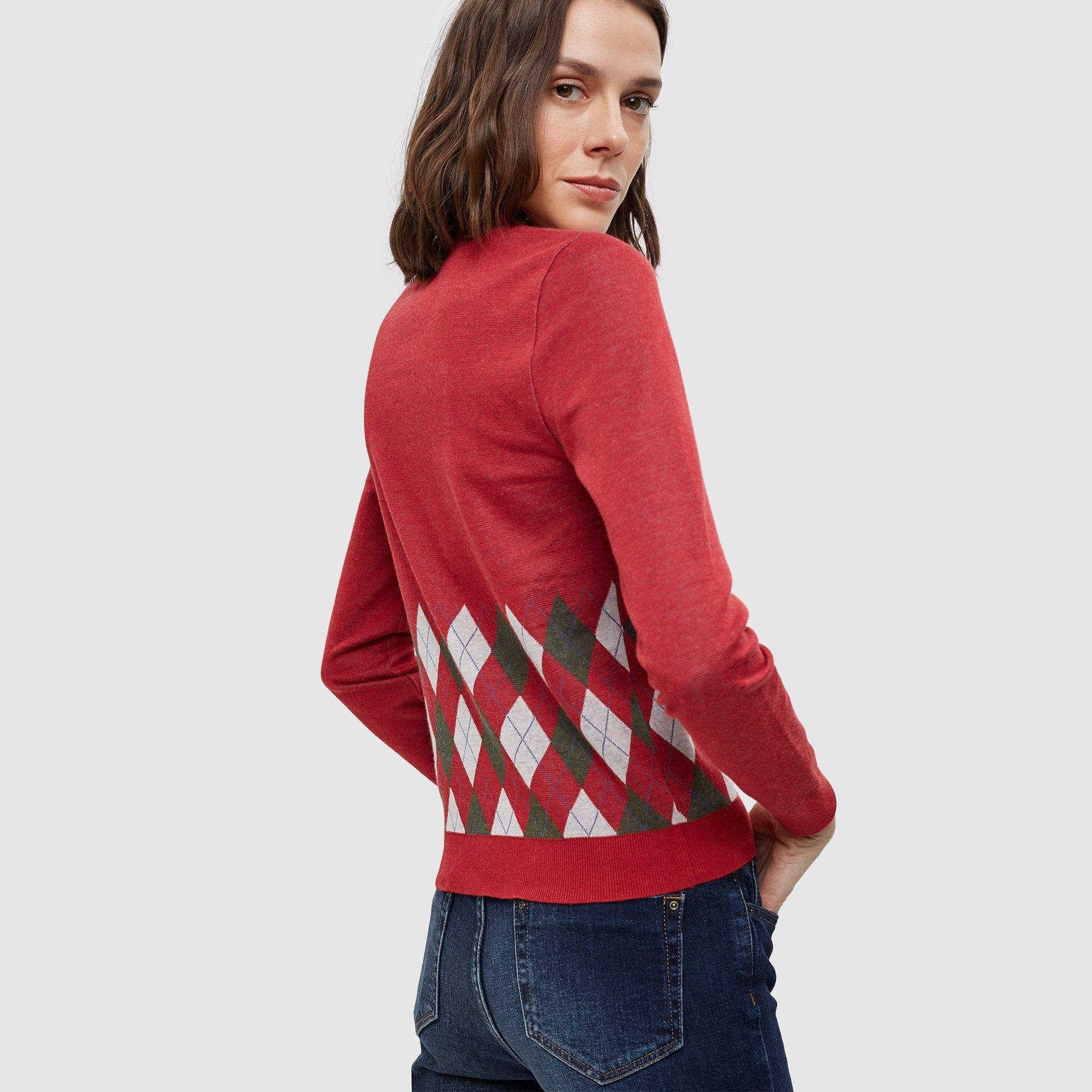 Pullover gerippt mit Kontrastkragen