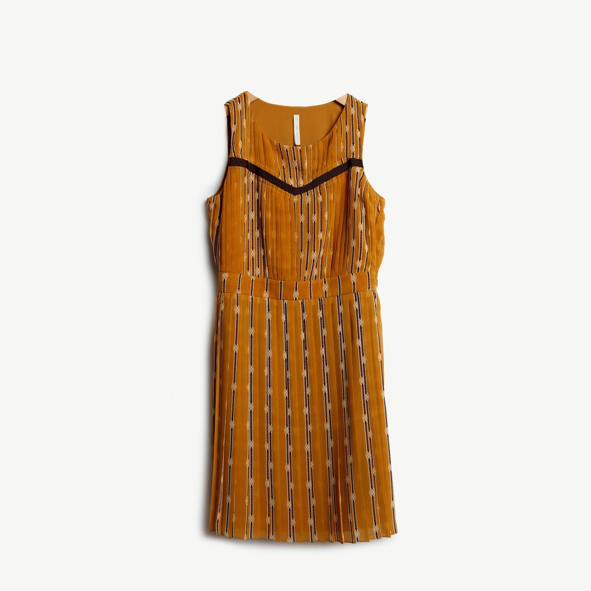Pleated Over The Knee Dress