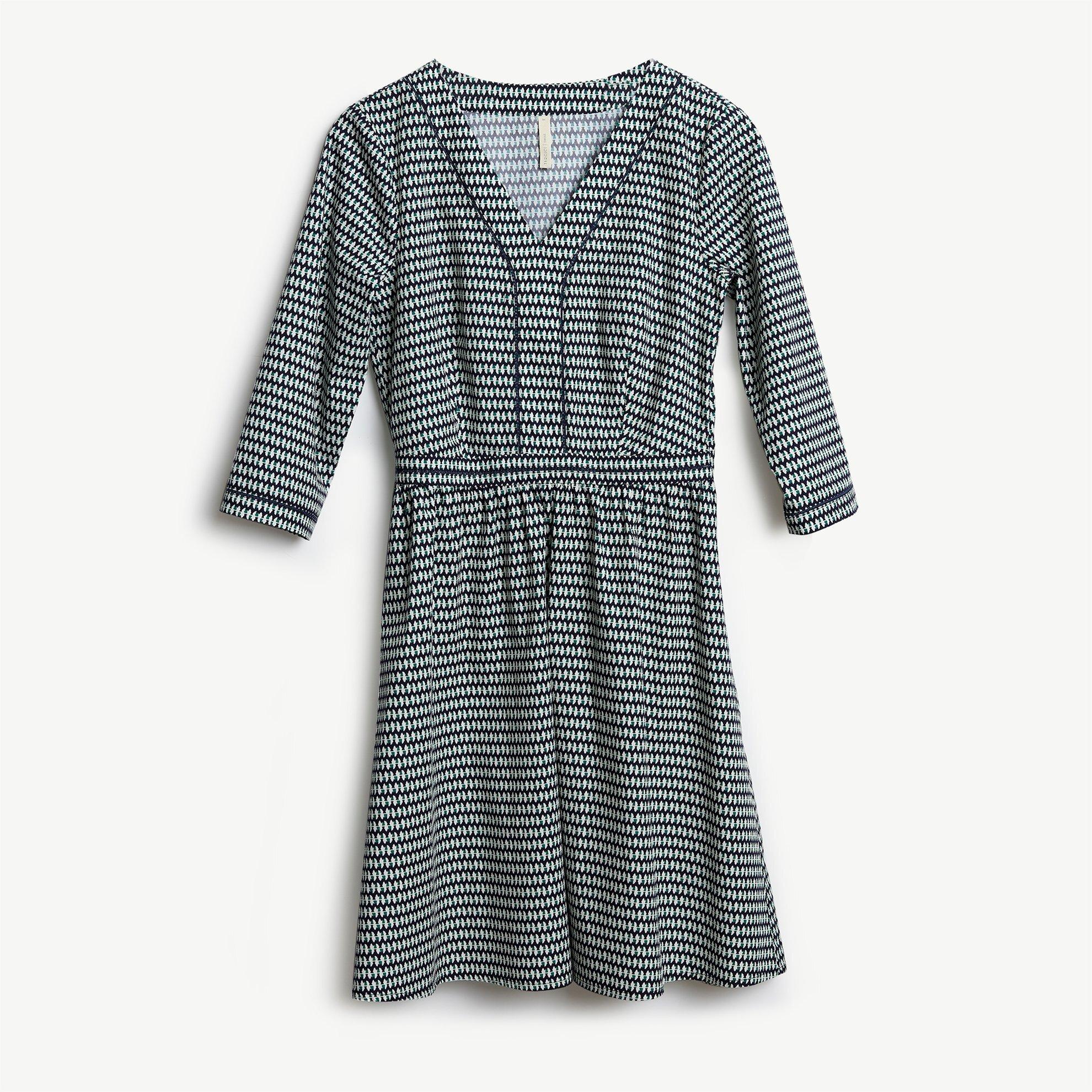 Trim Detailed V Neck Dress