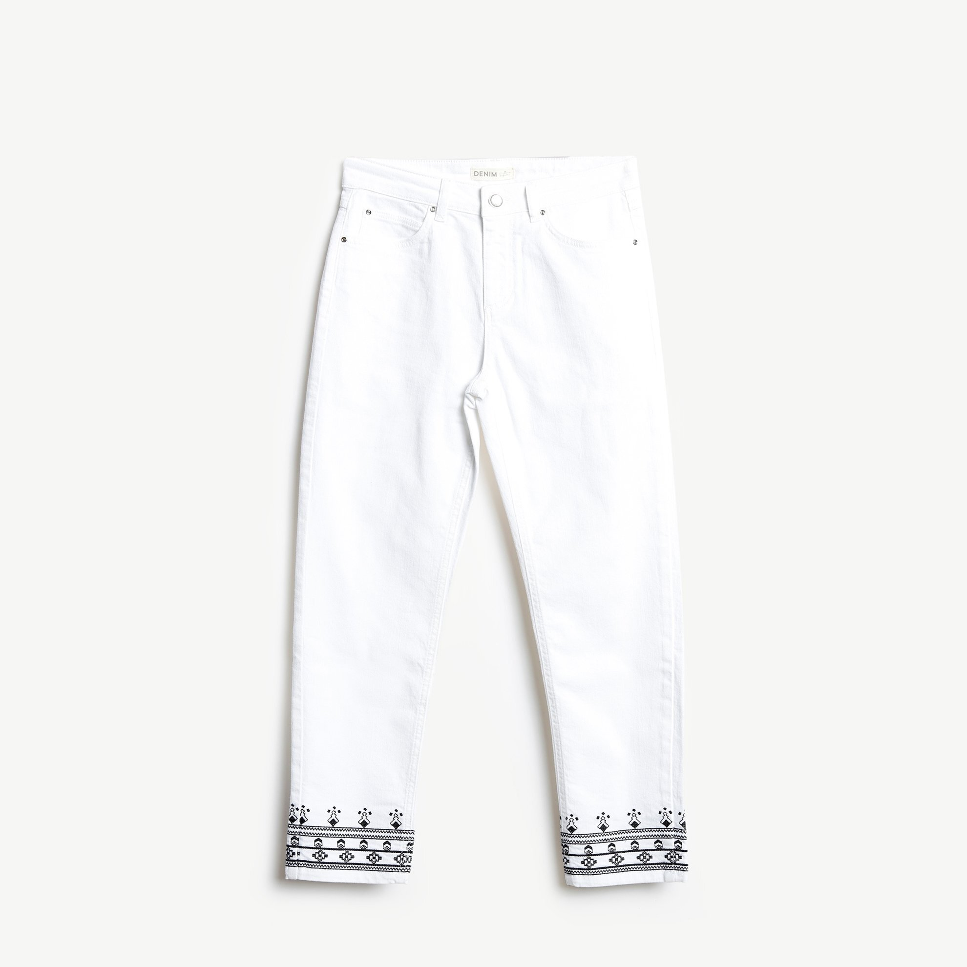 Hem Detailed 5 Pocket Trousers