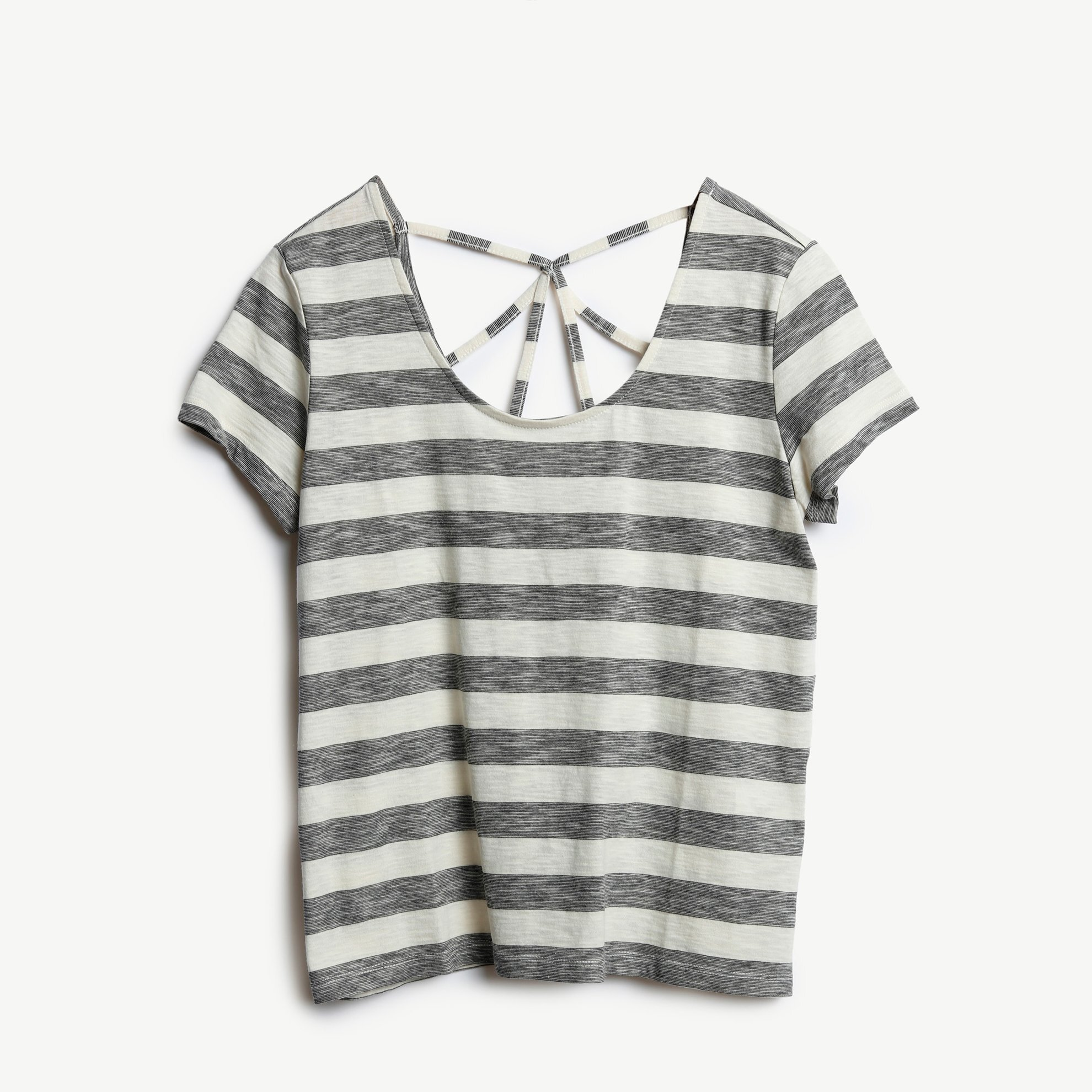 Wide Collar Decorated T-Shirt