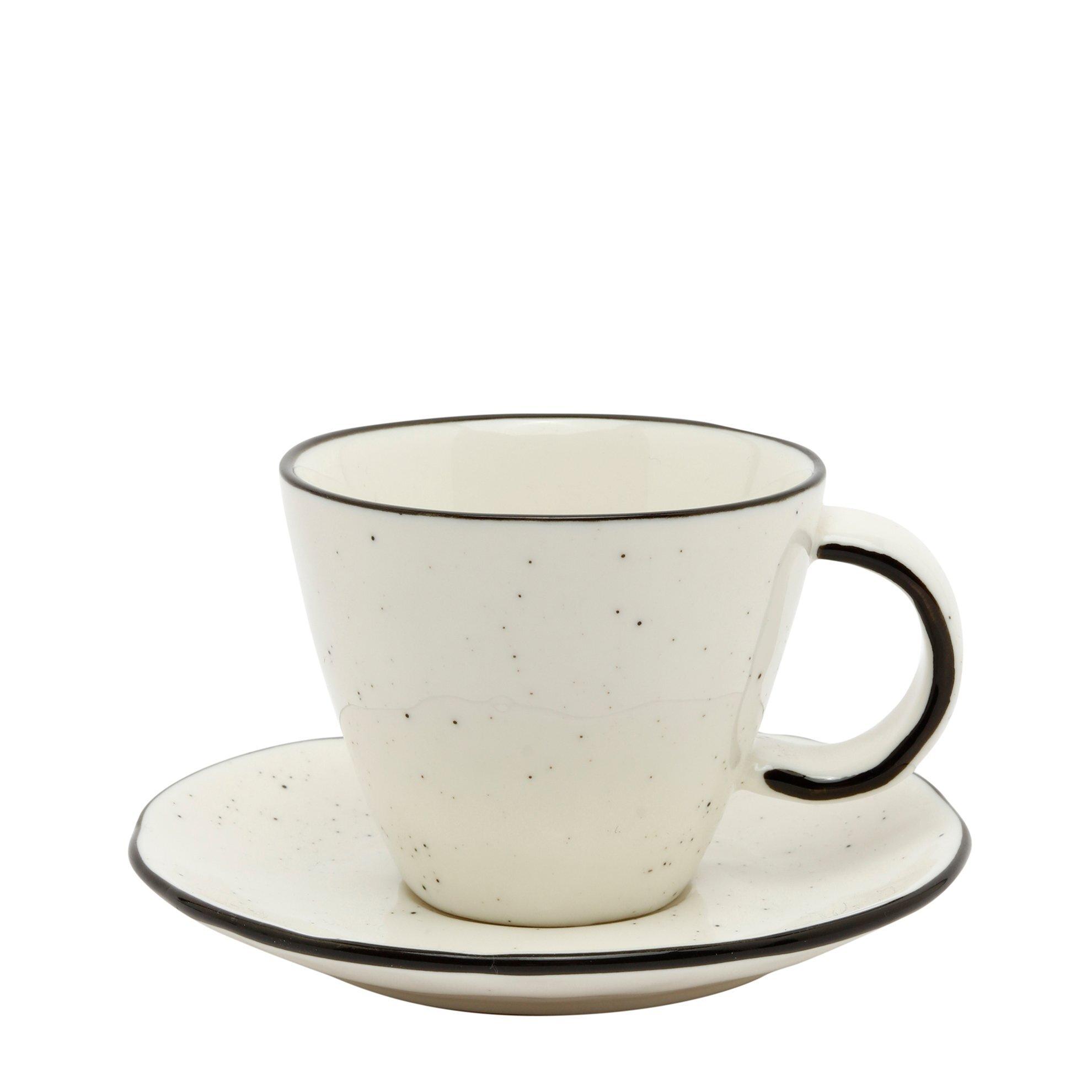 Porcelain Espresso Cup & Saucer