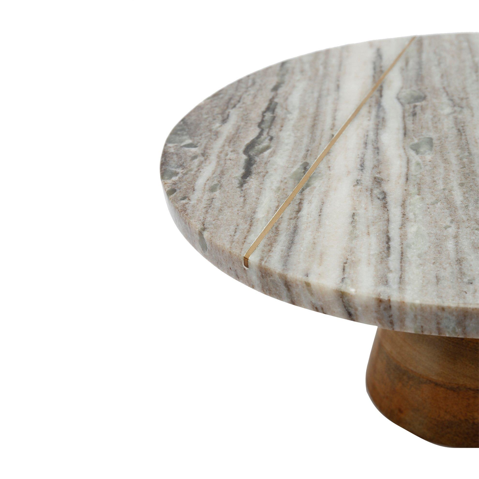 Kuchenteller aus Marmor