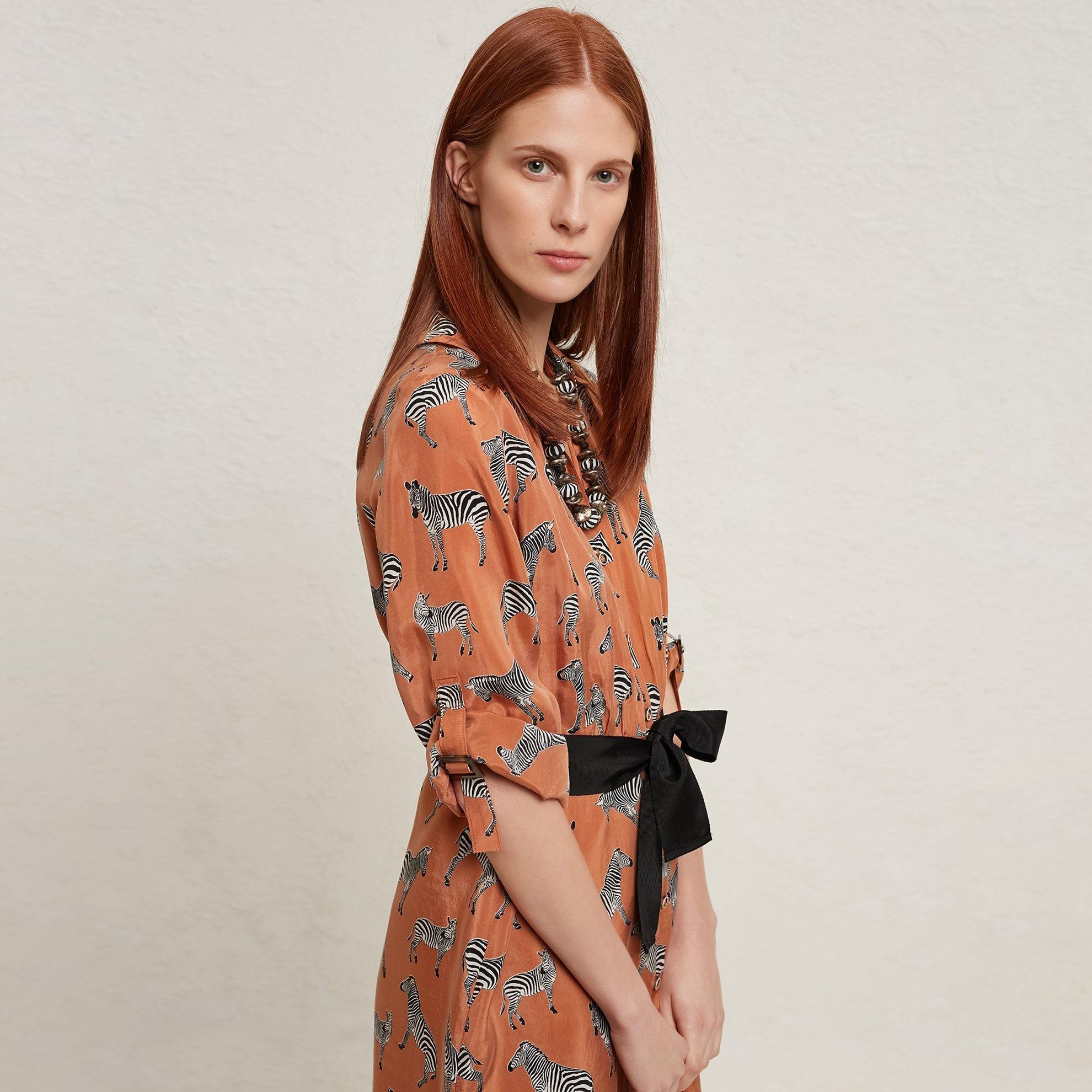 resm Kontrast Kemerli Gömlek Elbise