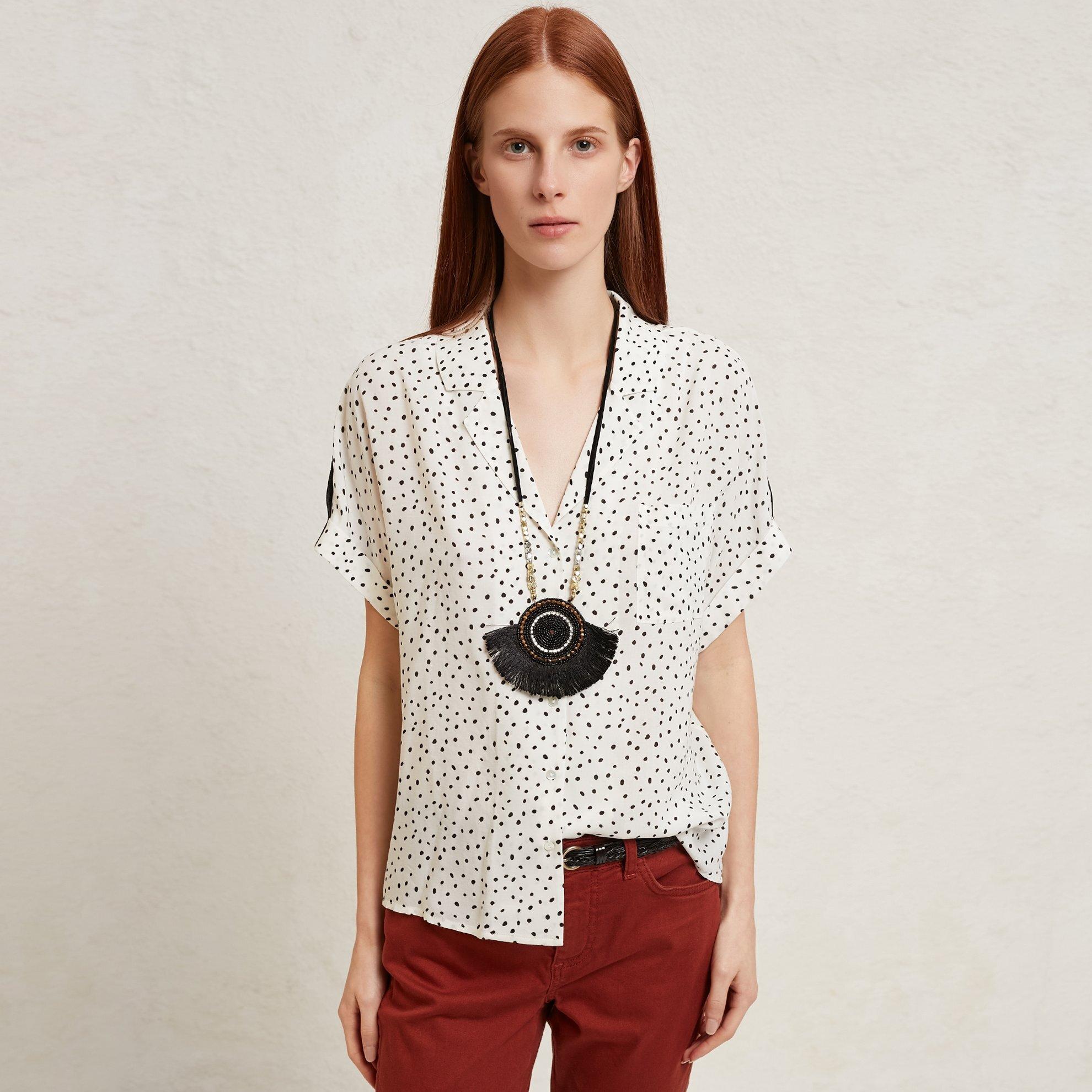 Damen Hemd kurzarm mit Taschen