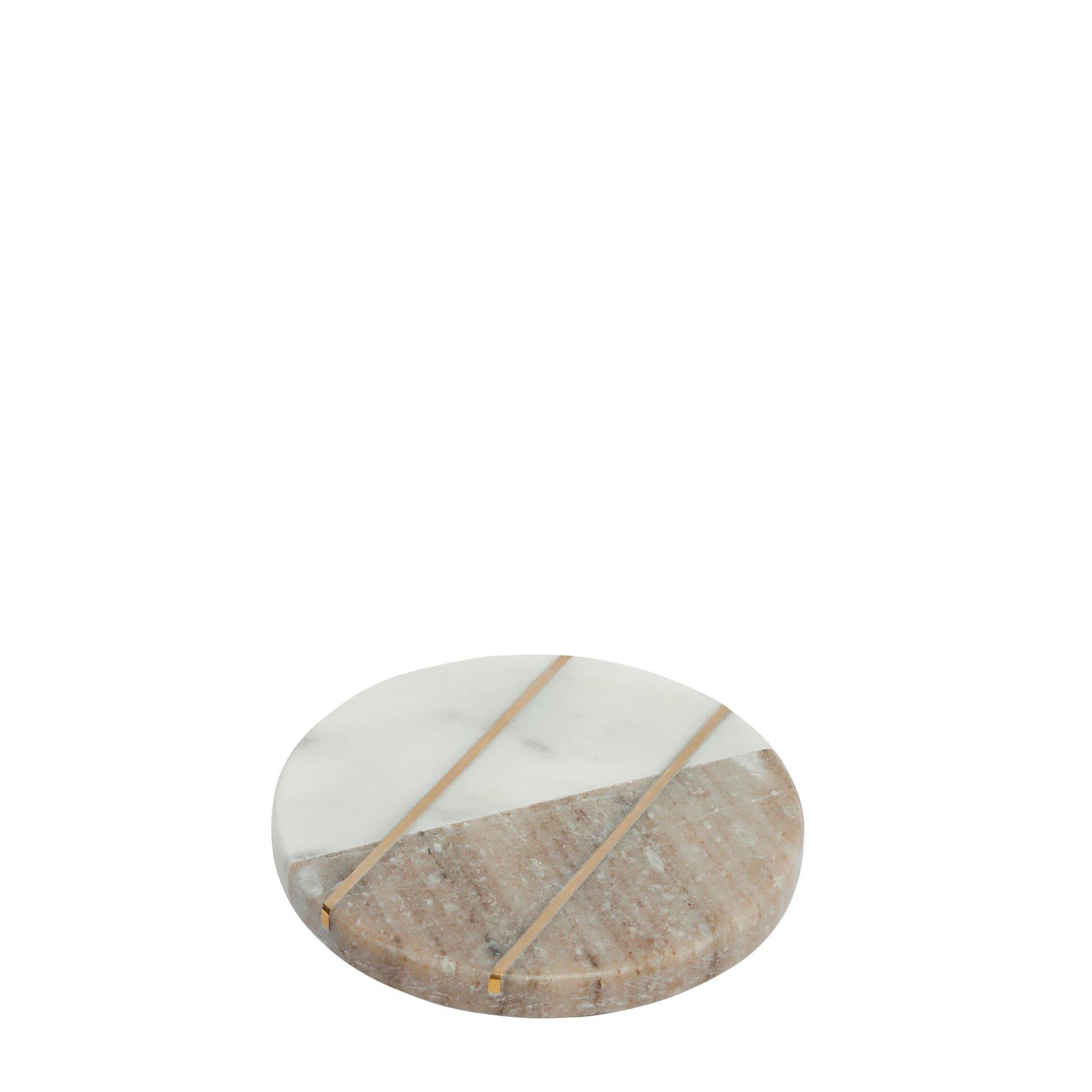 Glas Untersetzer aus Marmor