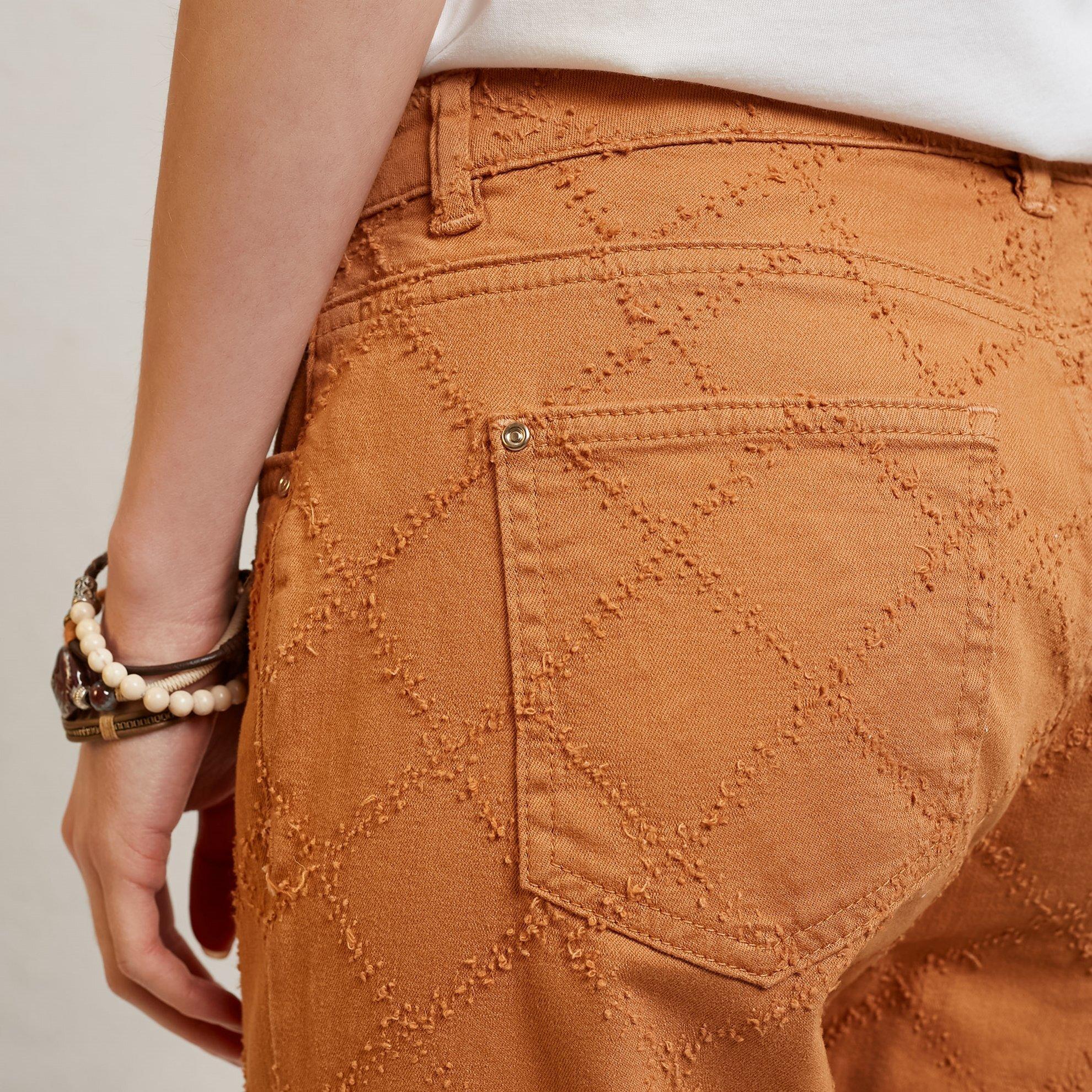 Damen Hose mit Schlagdetail