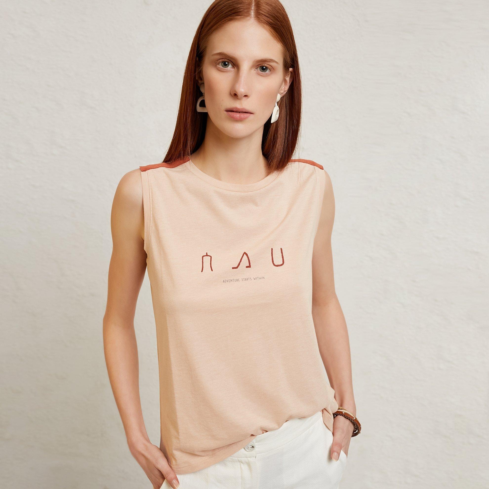 hot sale online cfebe 79e15 Damen T-Shirt mit Schulterdetail ärmellos