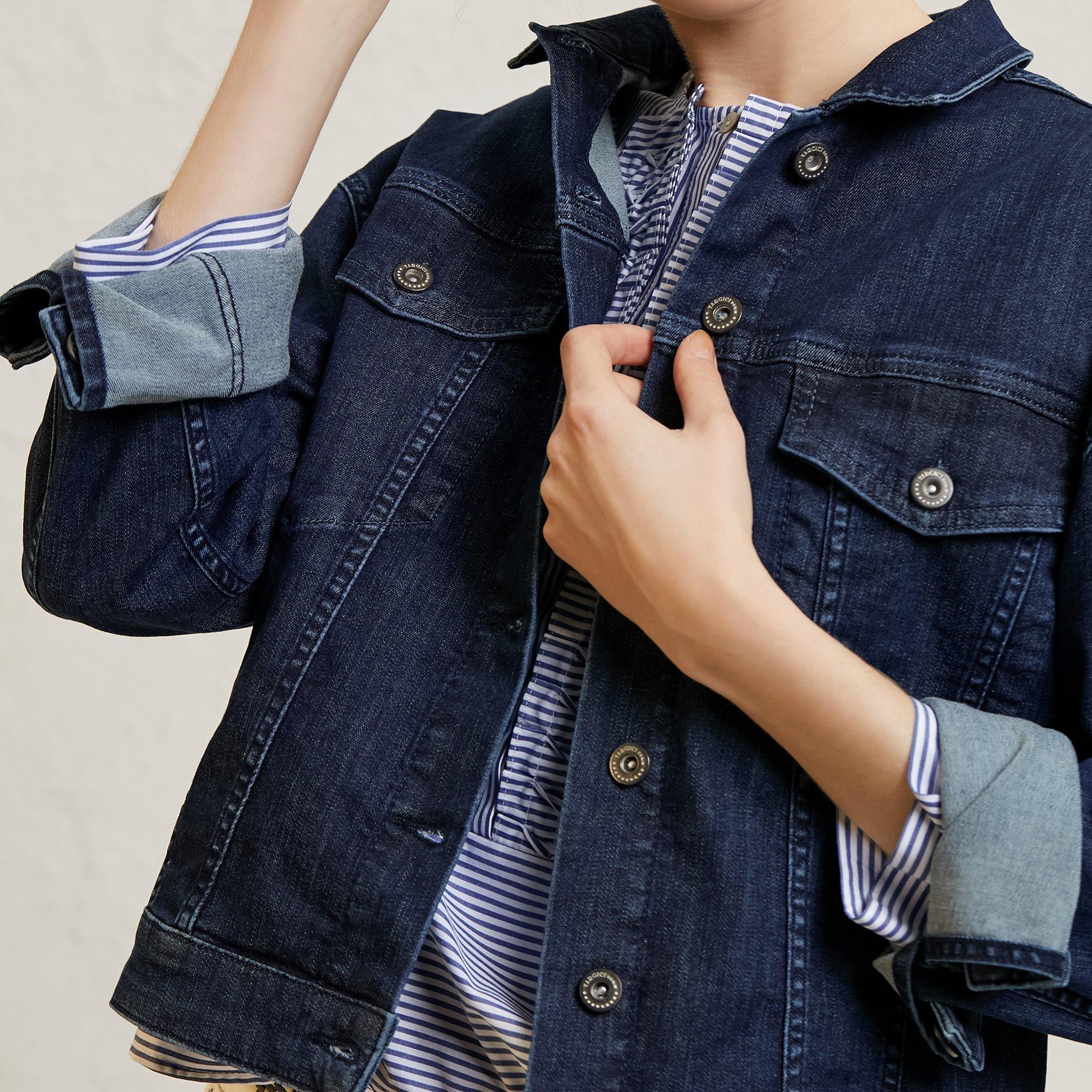 Damen Jeansjacke mit Taschendetail