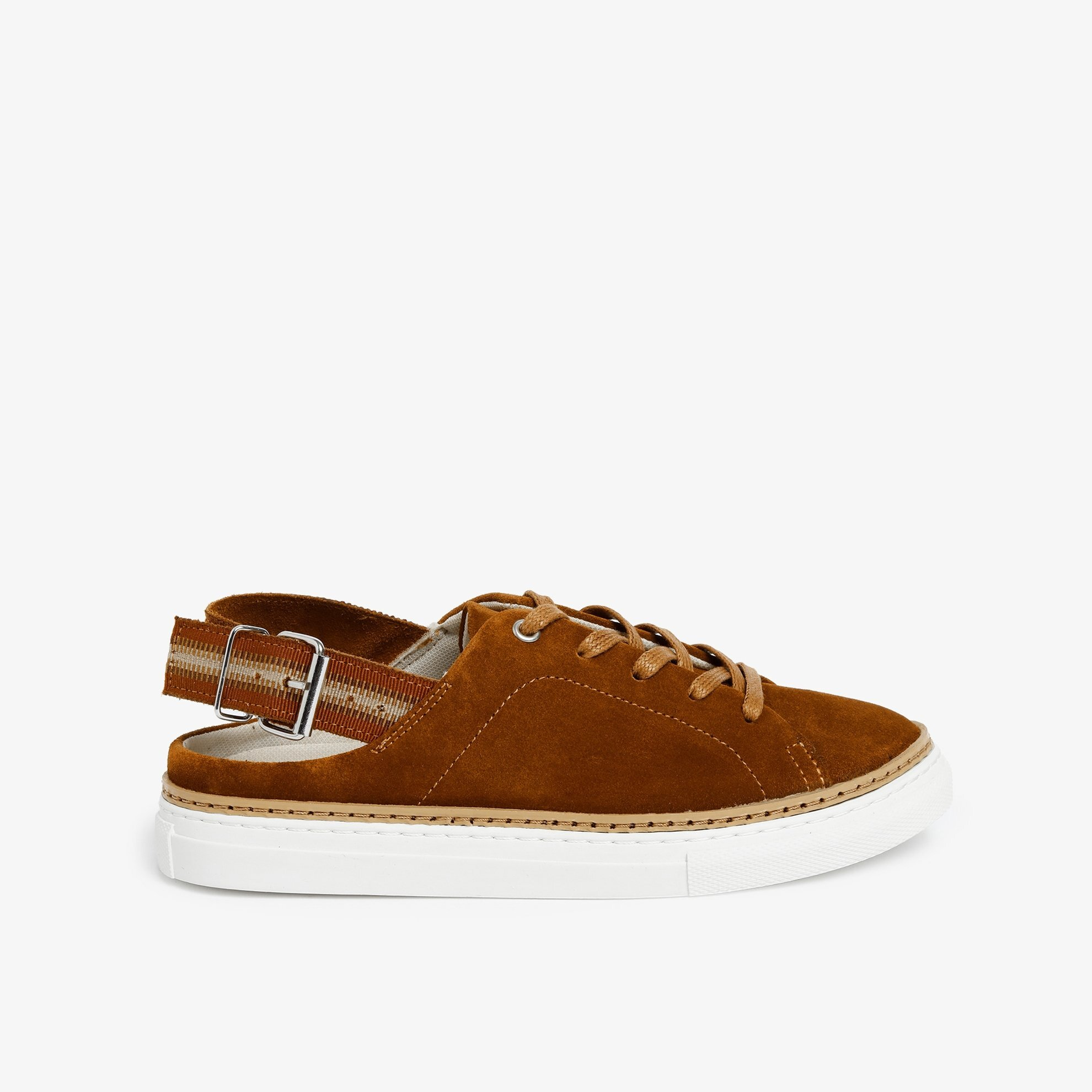 Open Heel Suede Sneaker