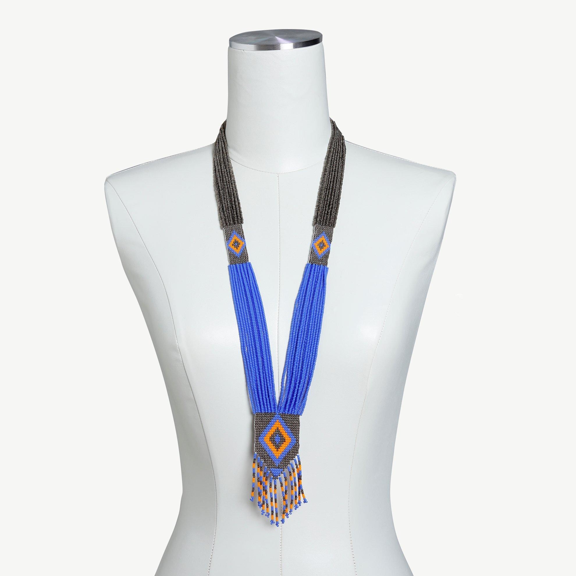 Halskette Geflochten mit Perlen