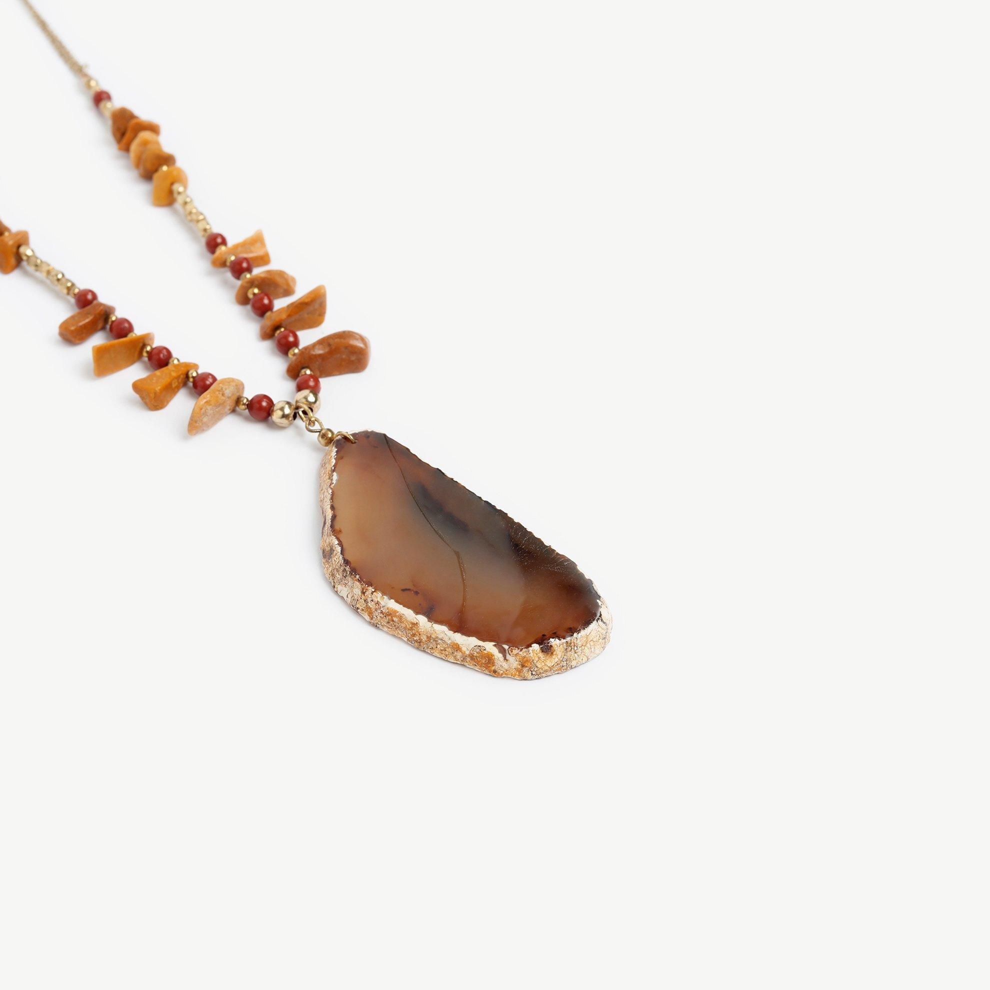 Halskette lang aus Naturstein