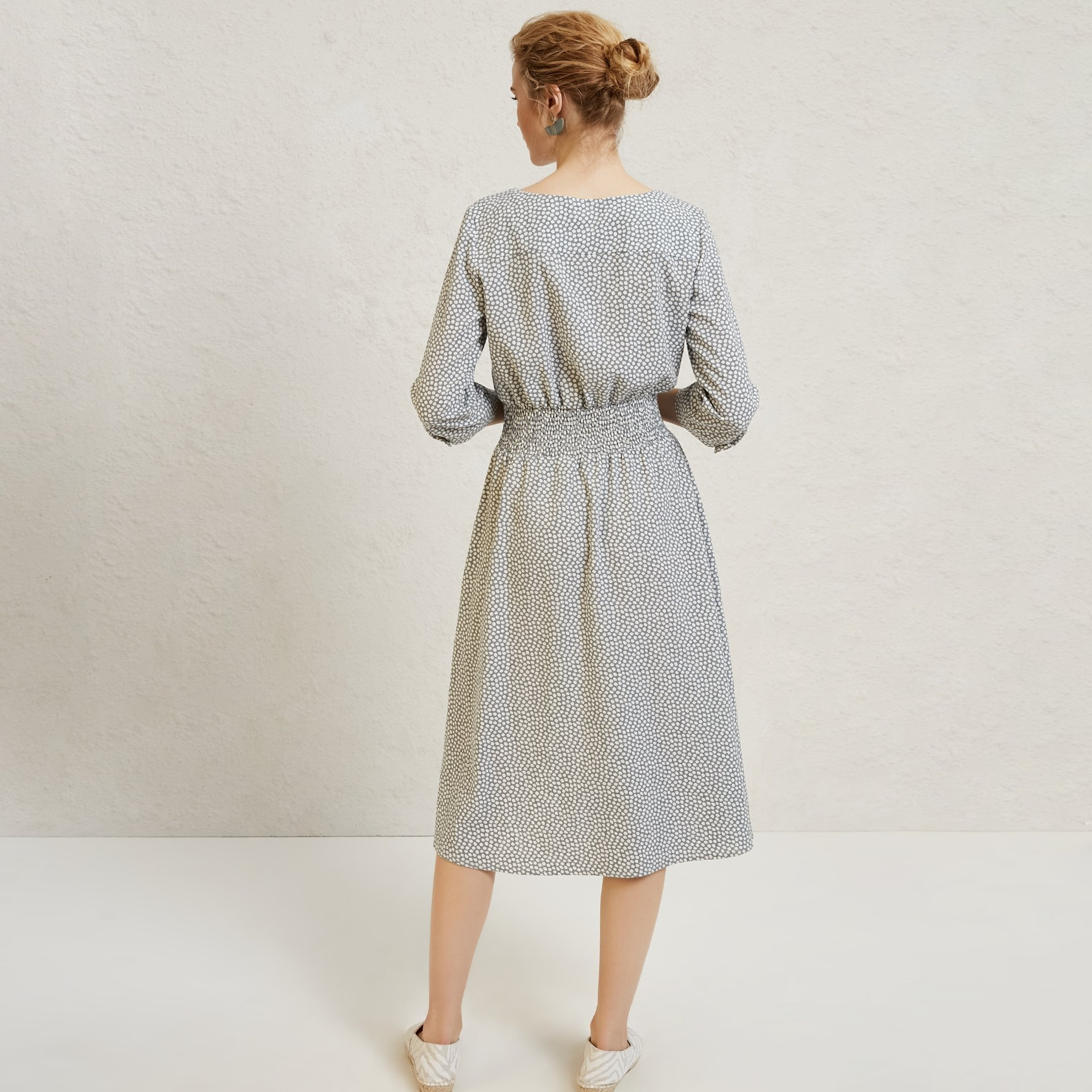 Front Buttoned Midi Dress