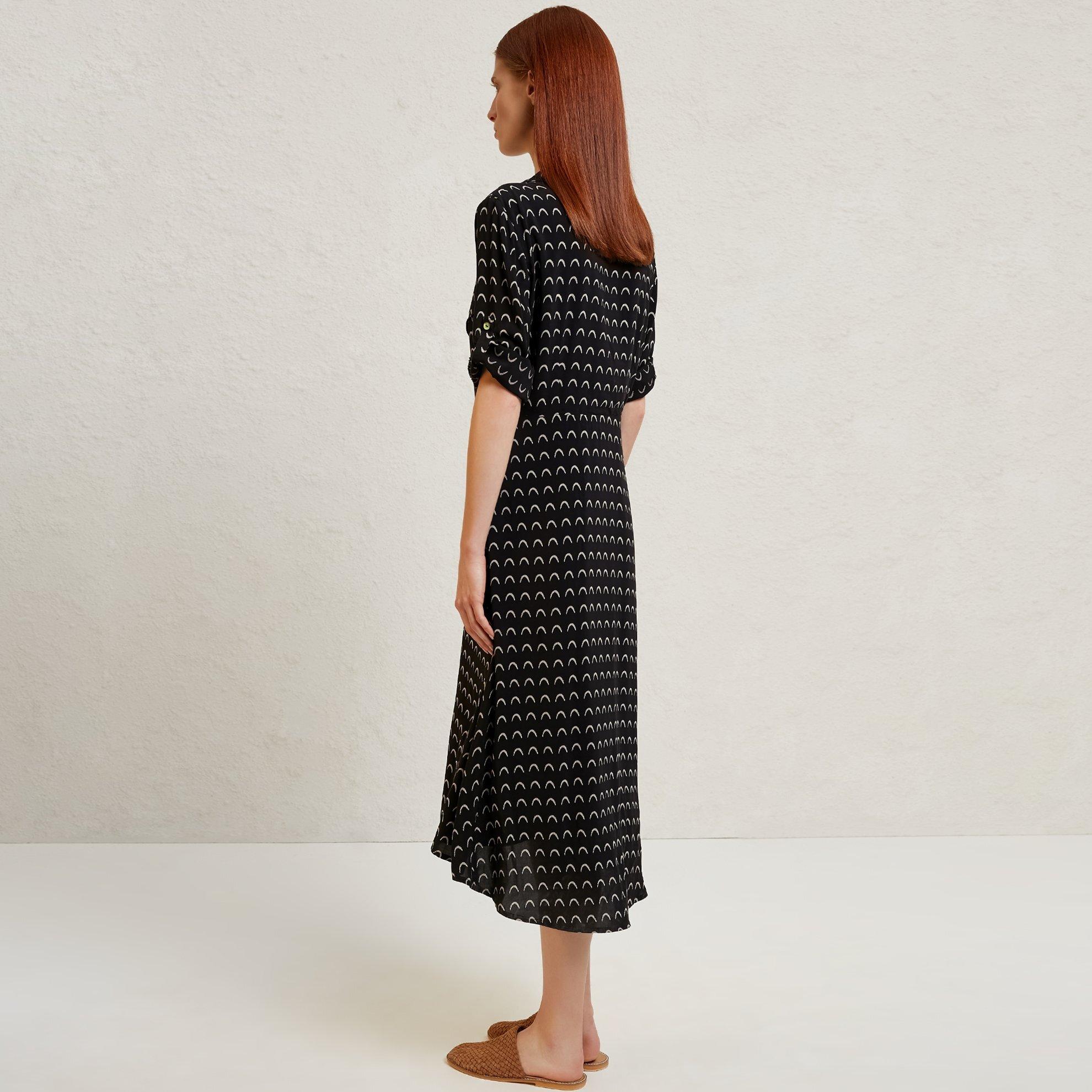 Pintuck Detailed Dress