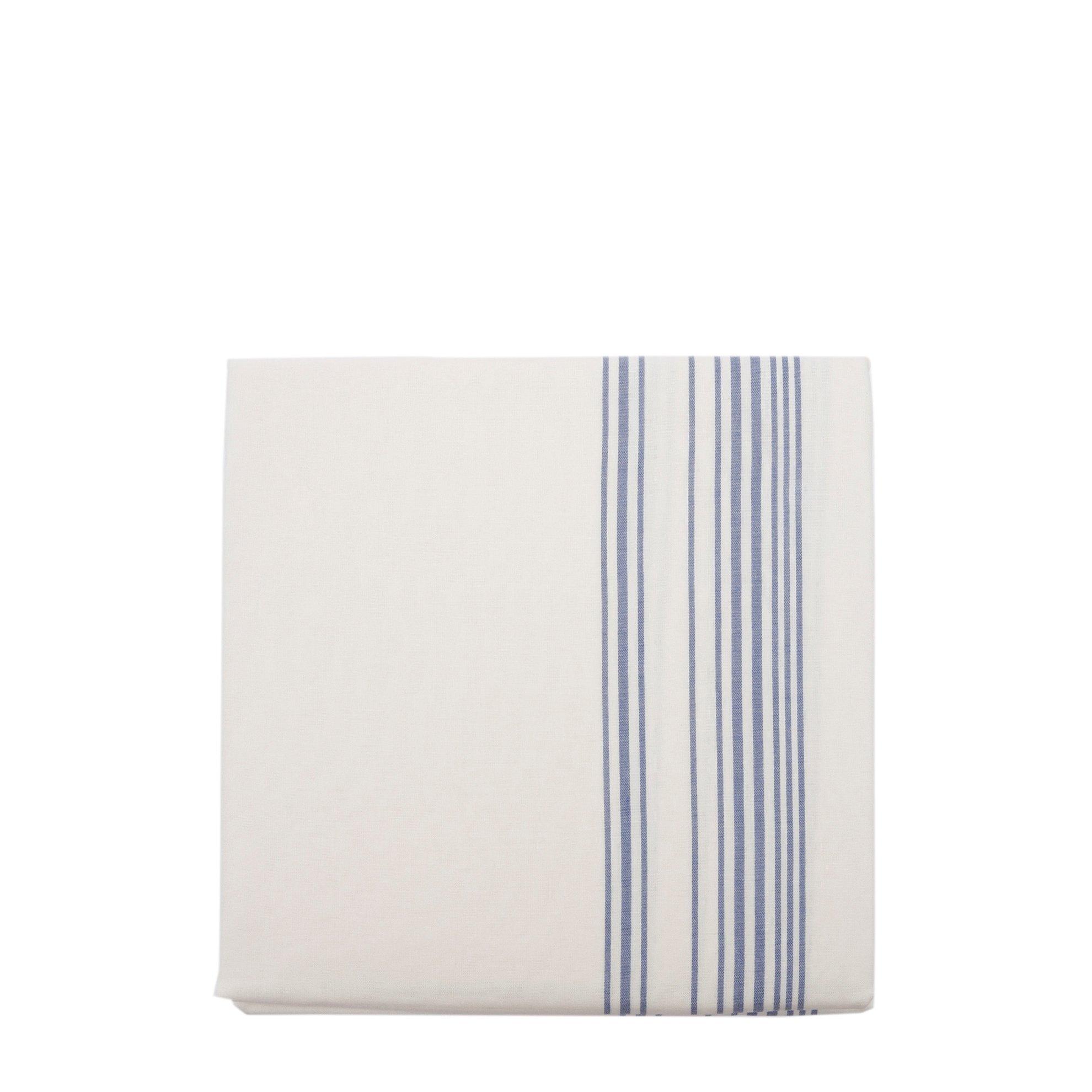 resm Esinti Kıng Sıze Mavi Çizgili Nevresim Kılıfı ( 269 X 234 Cm )