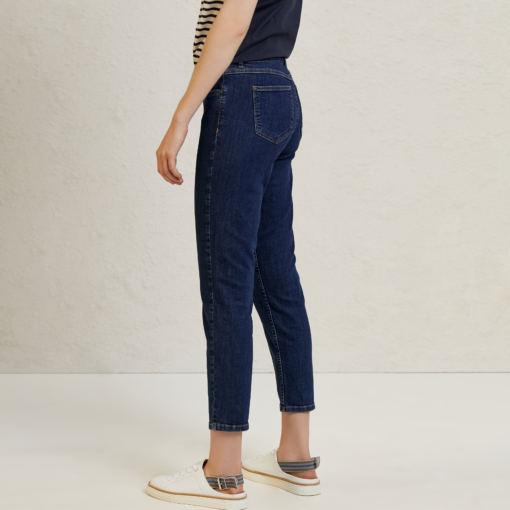 Belt Detailed Denim Trousers