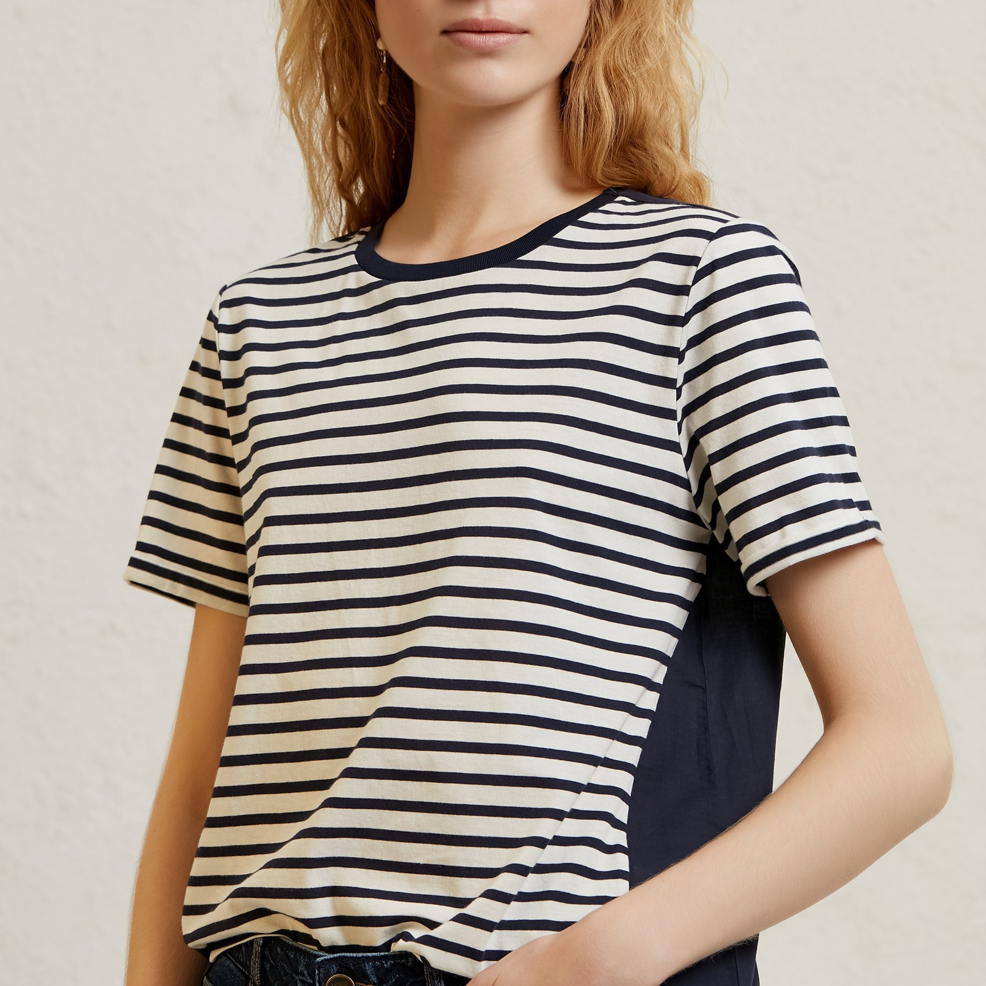 Contrast Panelled Printed T-Shirt