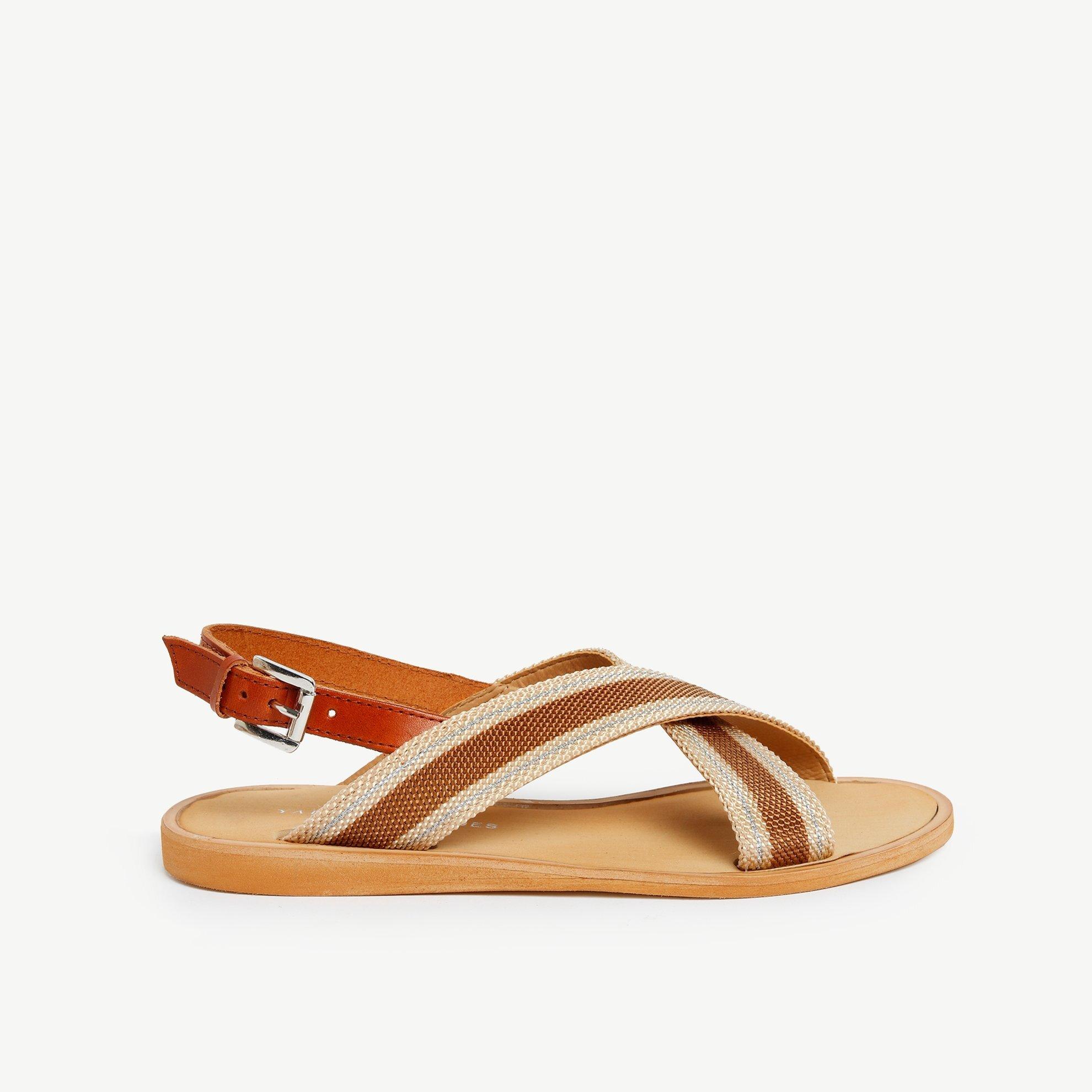 Deri Detaylı Sandalet