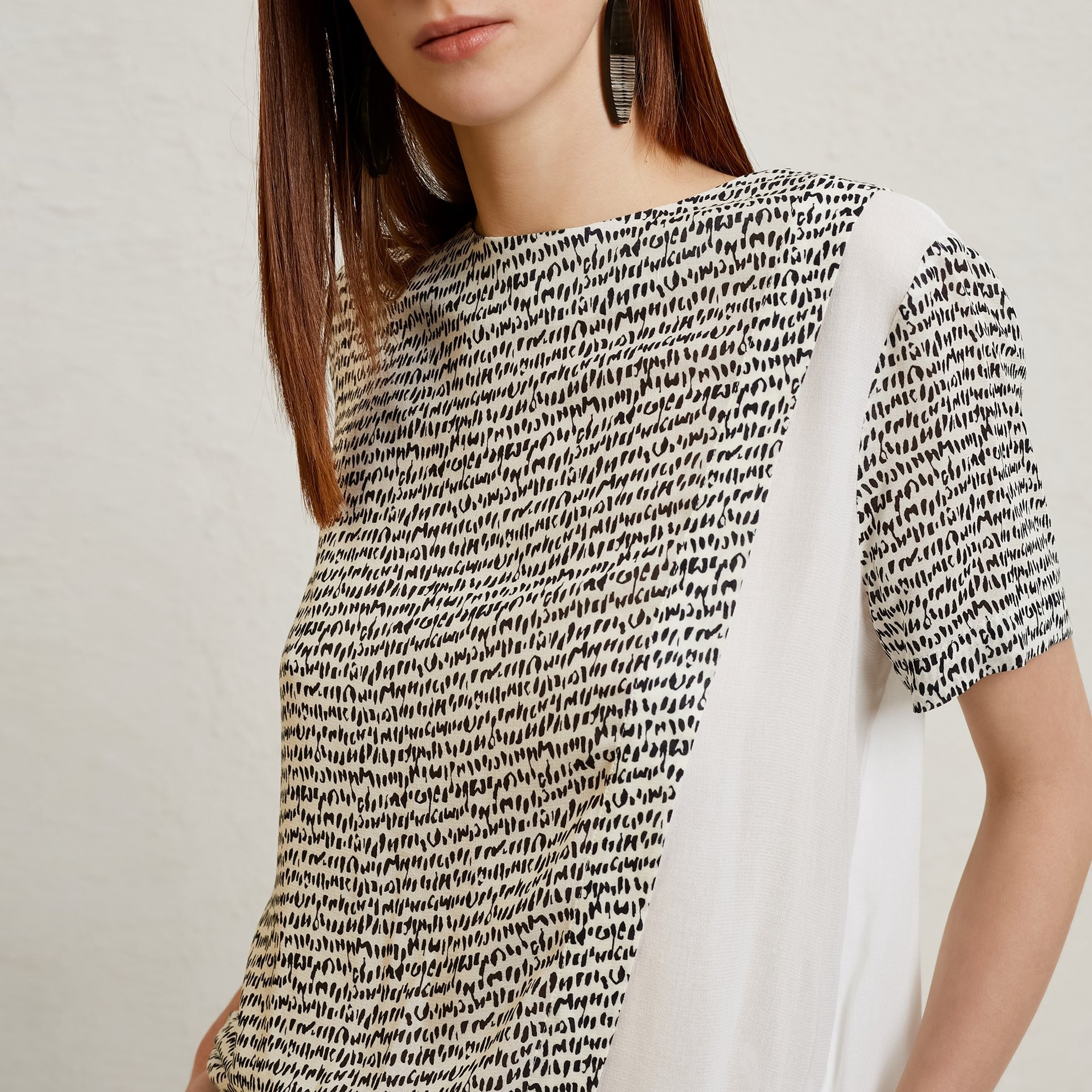 Contrast Detail Blouse
