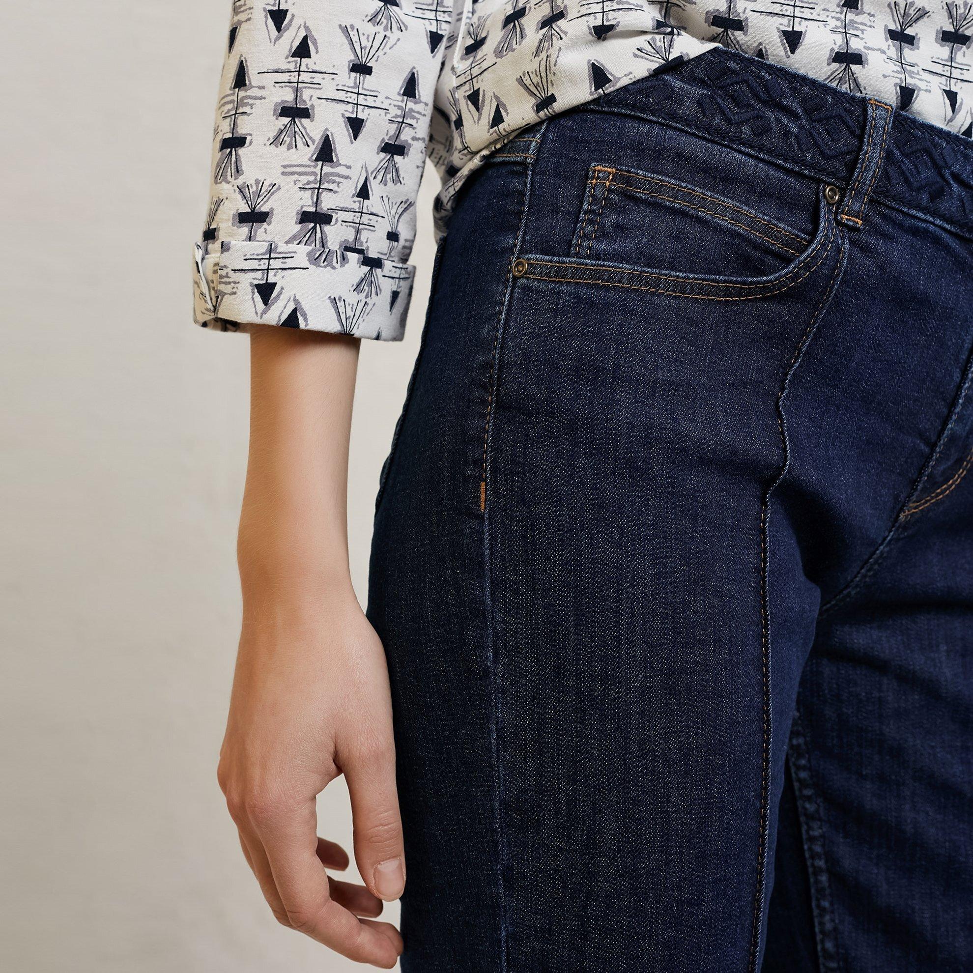 Belt Detailed Denim Trousers