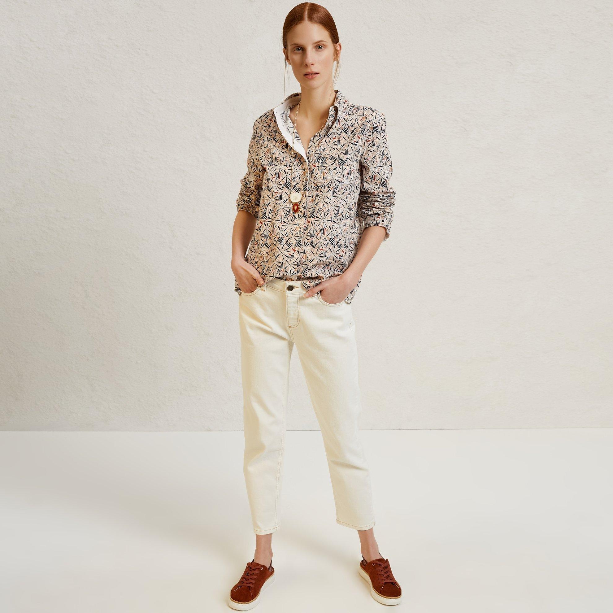 Straight Cut Denim Trousers
