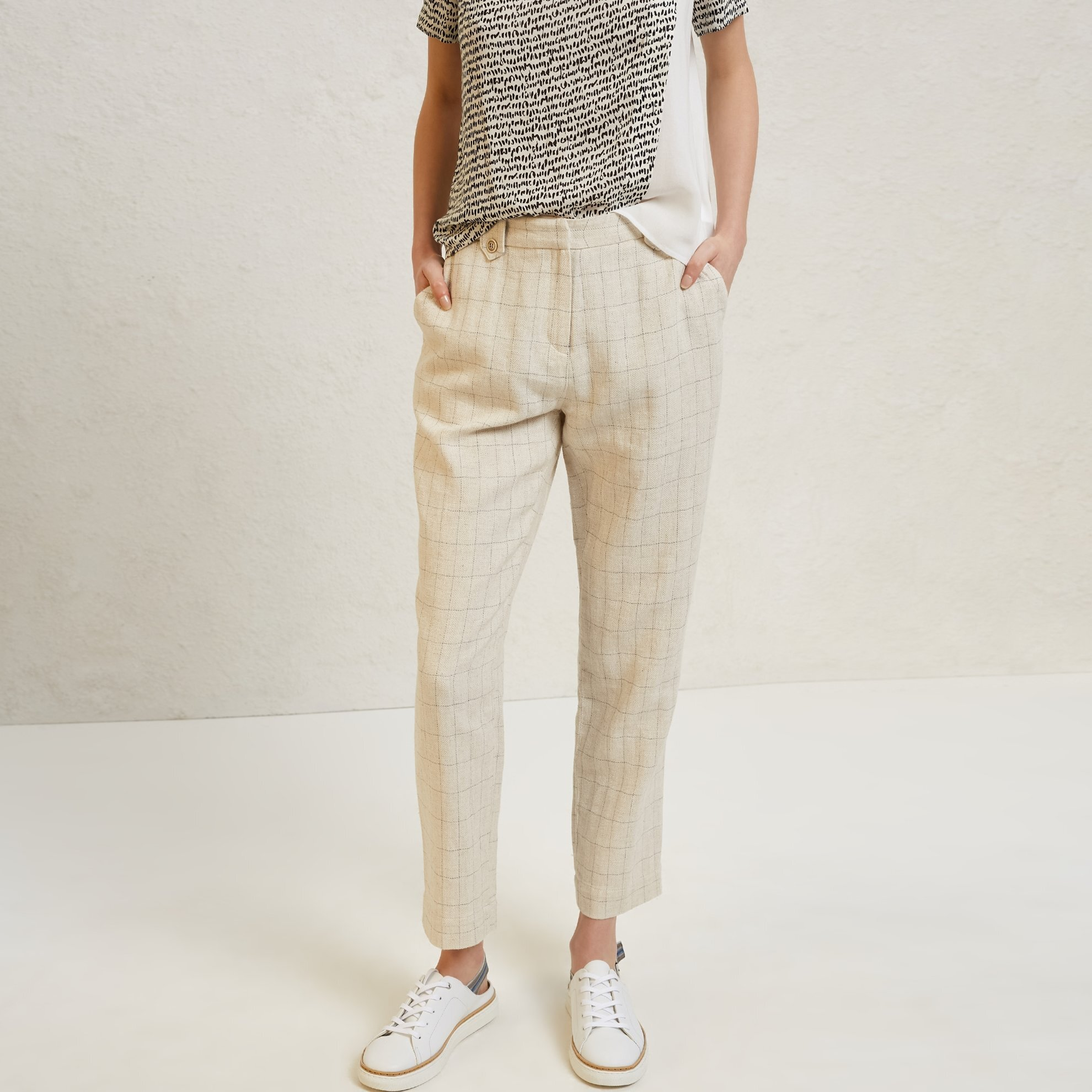 Belt Detailed Cigarette Trousers