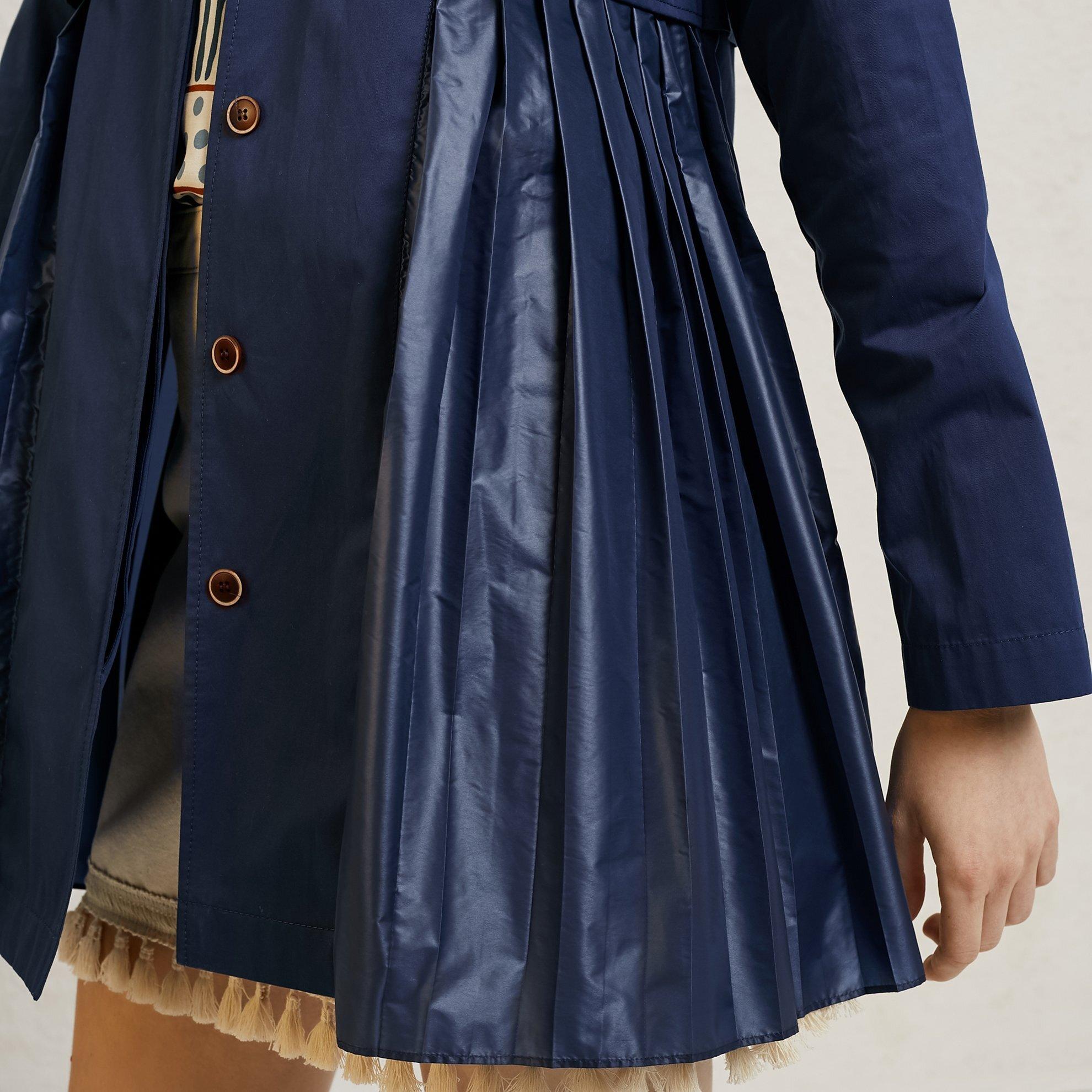 Pleat Detailed Coat