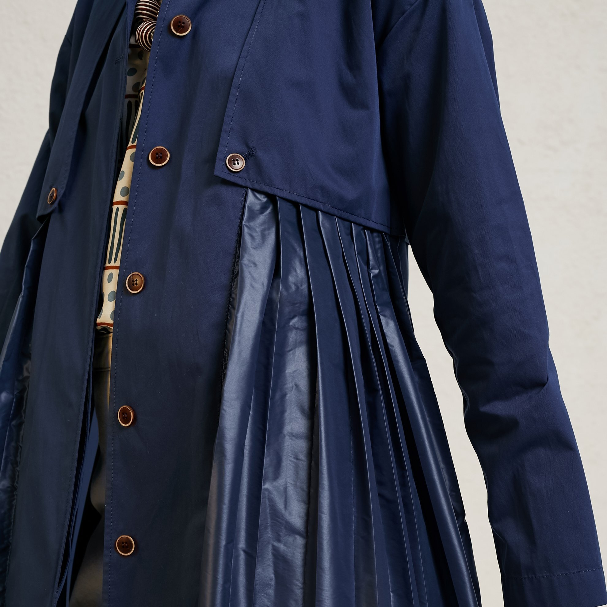 Pleat Detailed Coat
