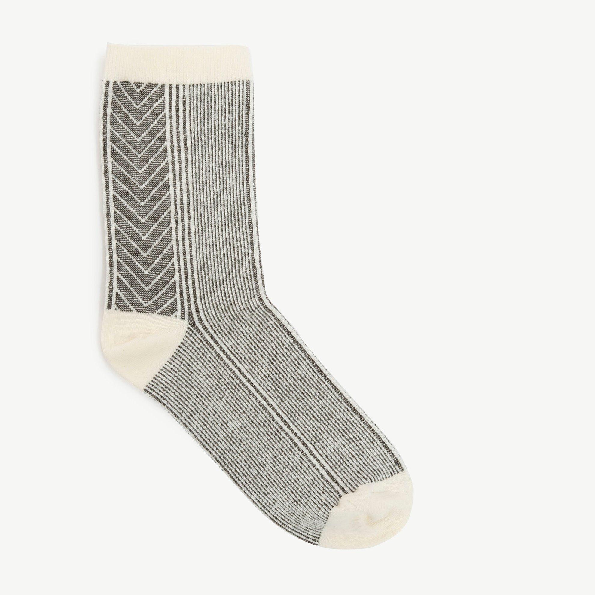 Çizgili Jakarlı Çorap