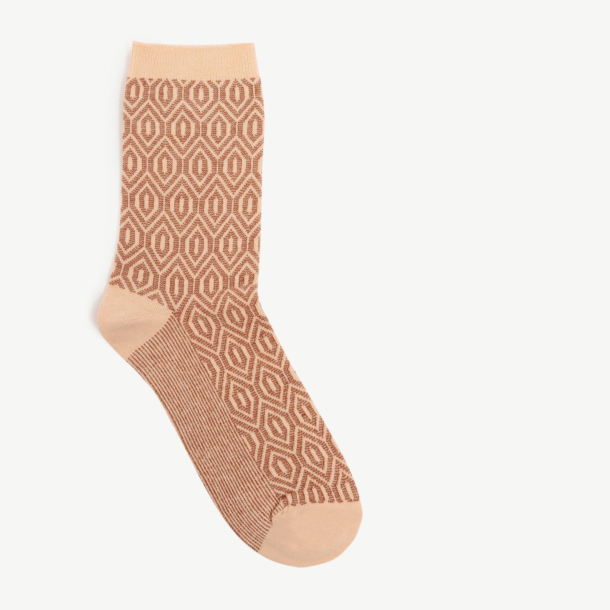 Baklava Desenli Jakarlı Çorap