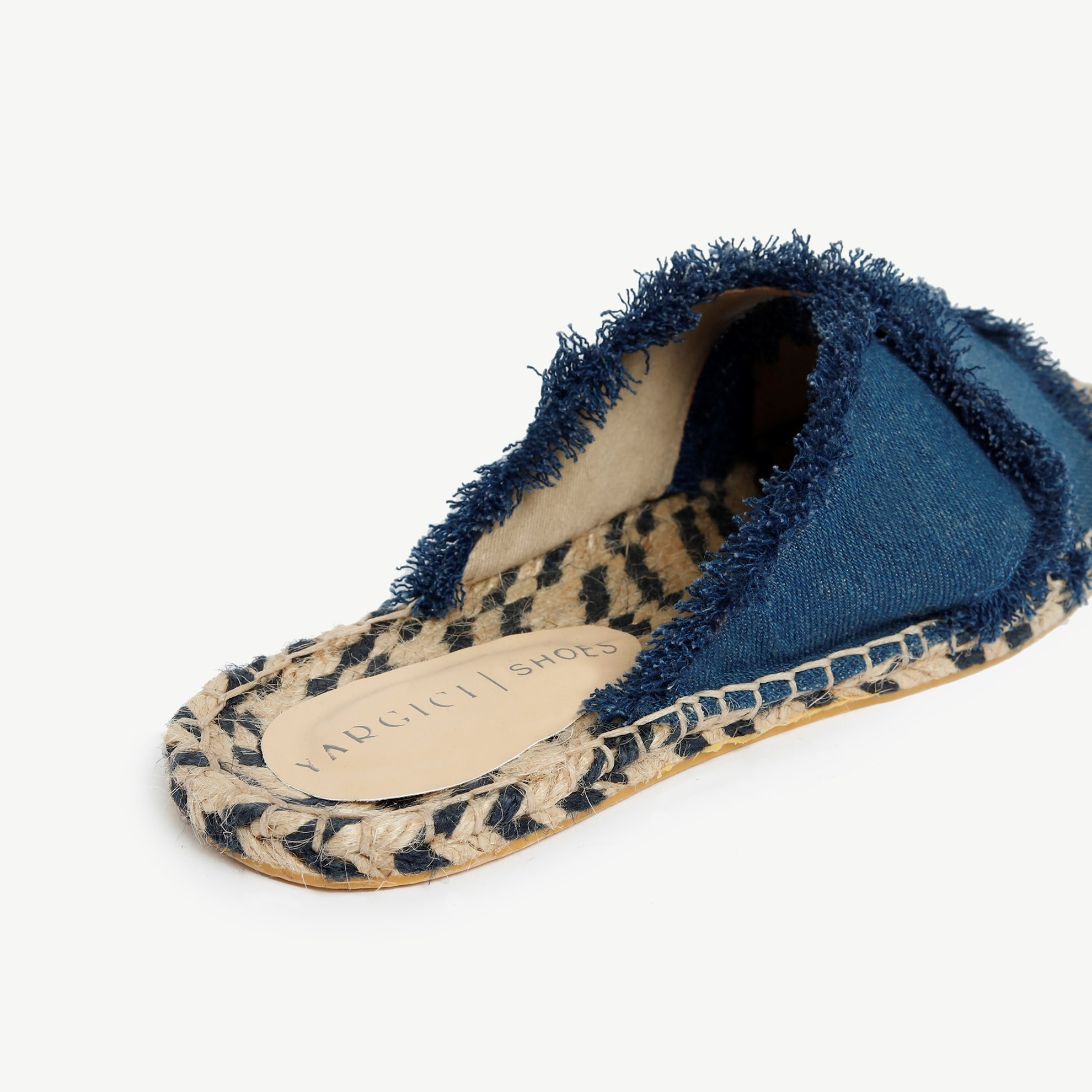 Denim Slipper With Jute Outsole