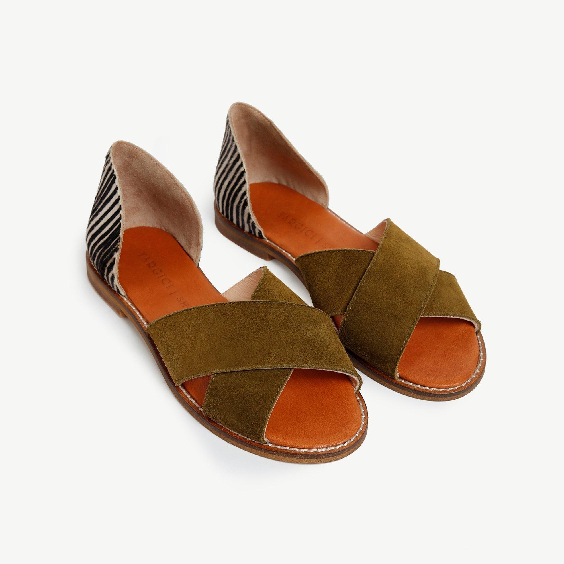 resm Süet Deri Sandalet