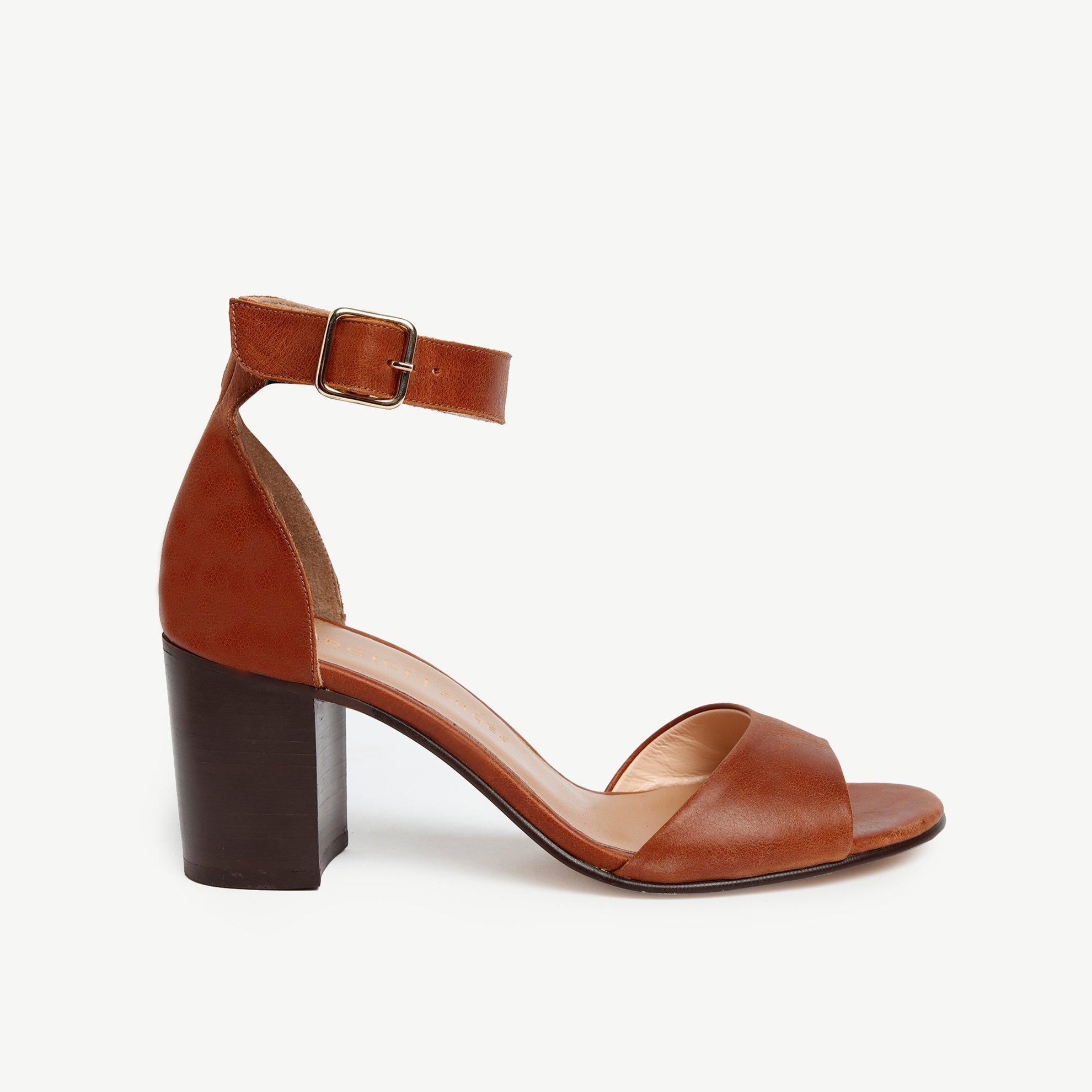 Leather HigH-Heel Sandal