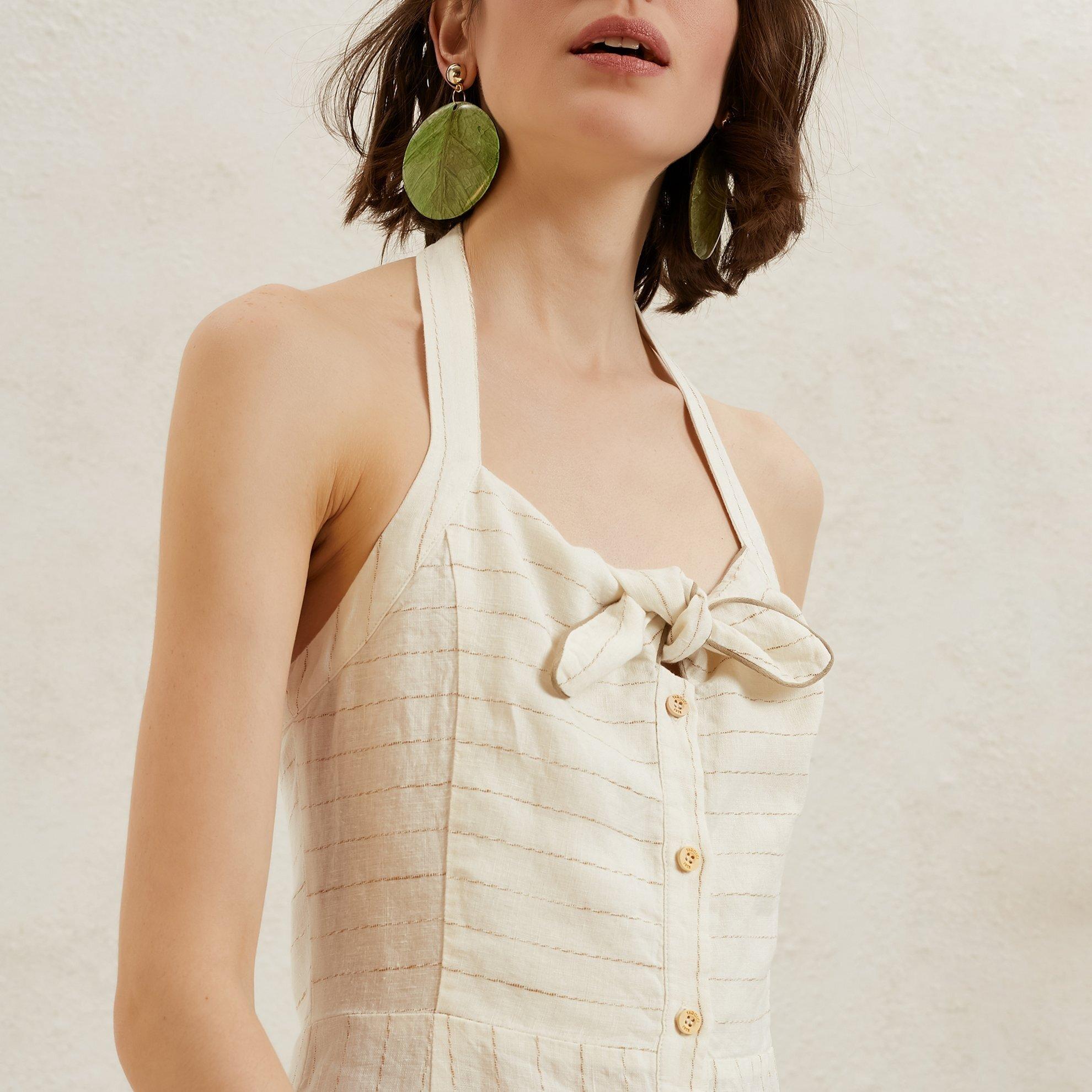 Önden Bağlamalı Midi Elbise
