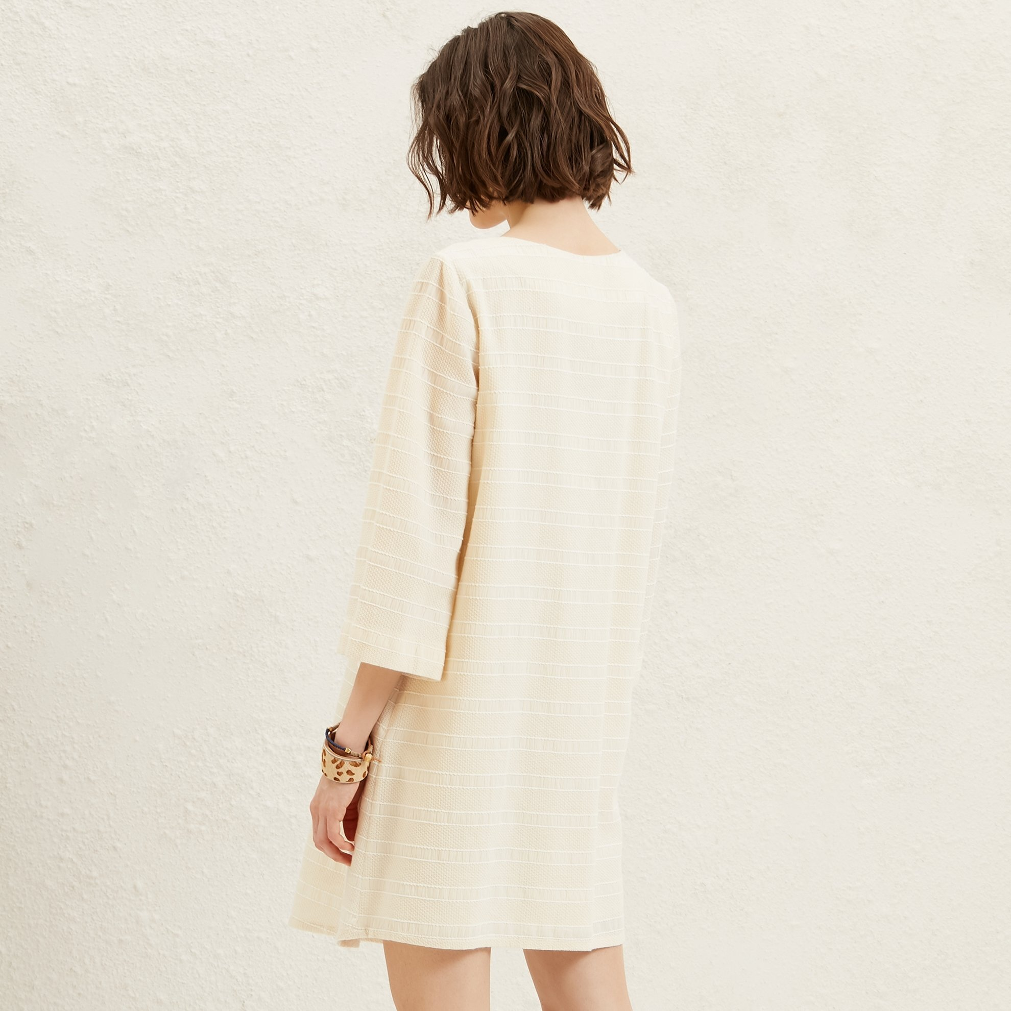 V Neck 374 Sleeve Dress