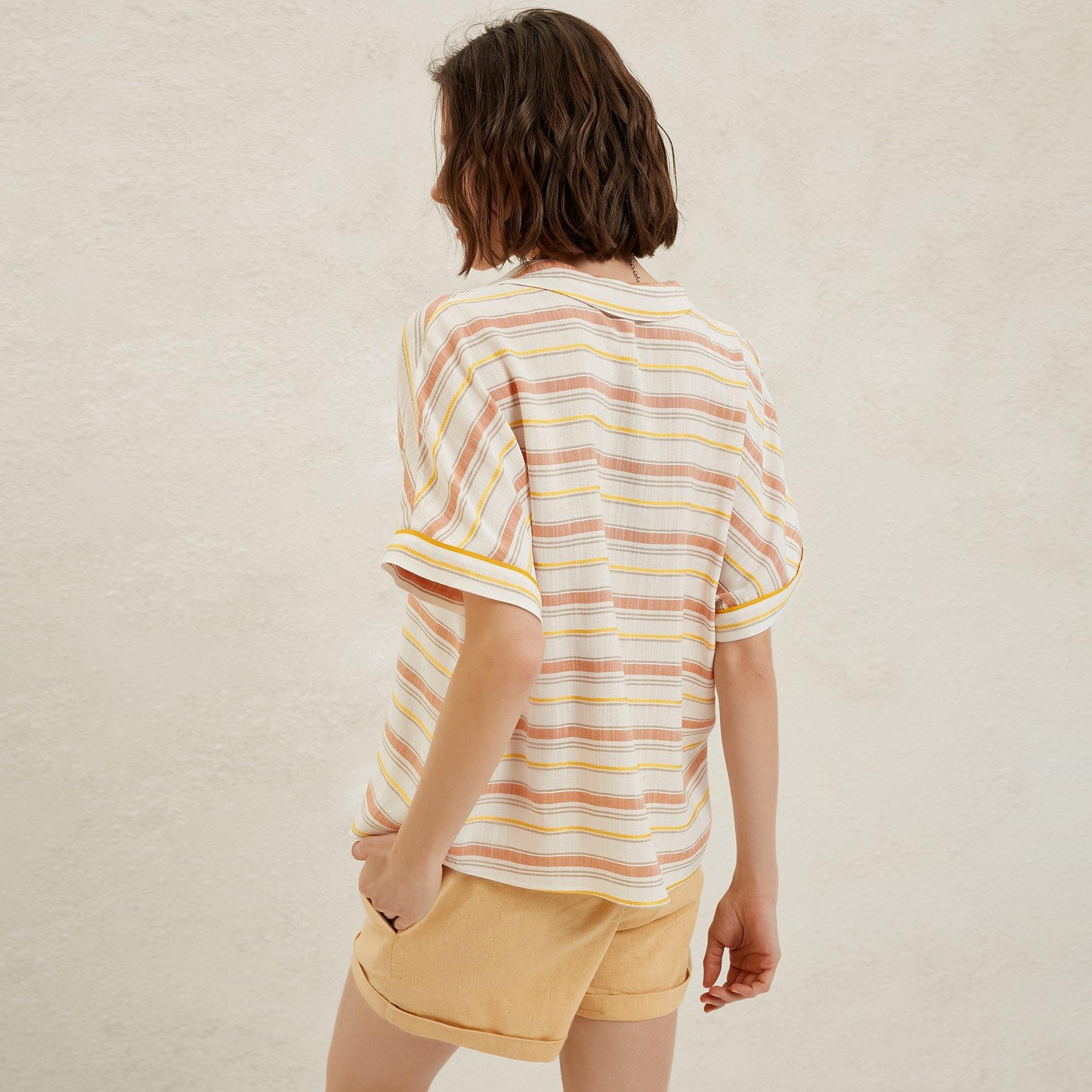 Shirt Sleeve Blouse