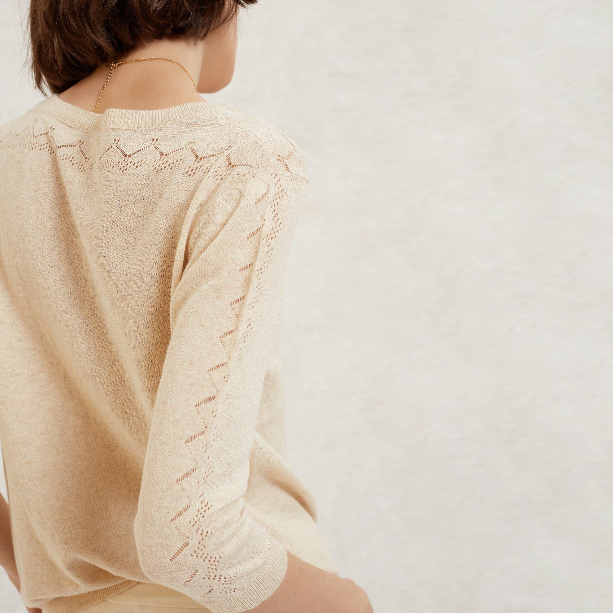 Pullover mit Strickdetails
