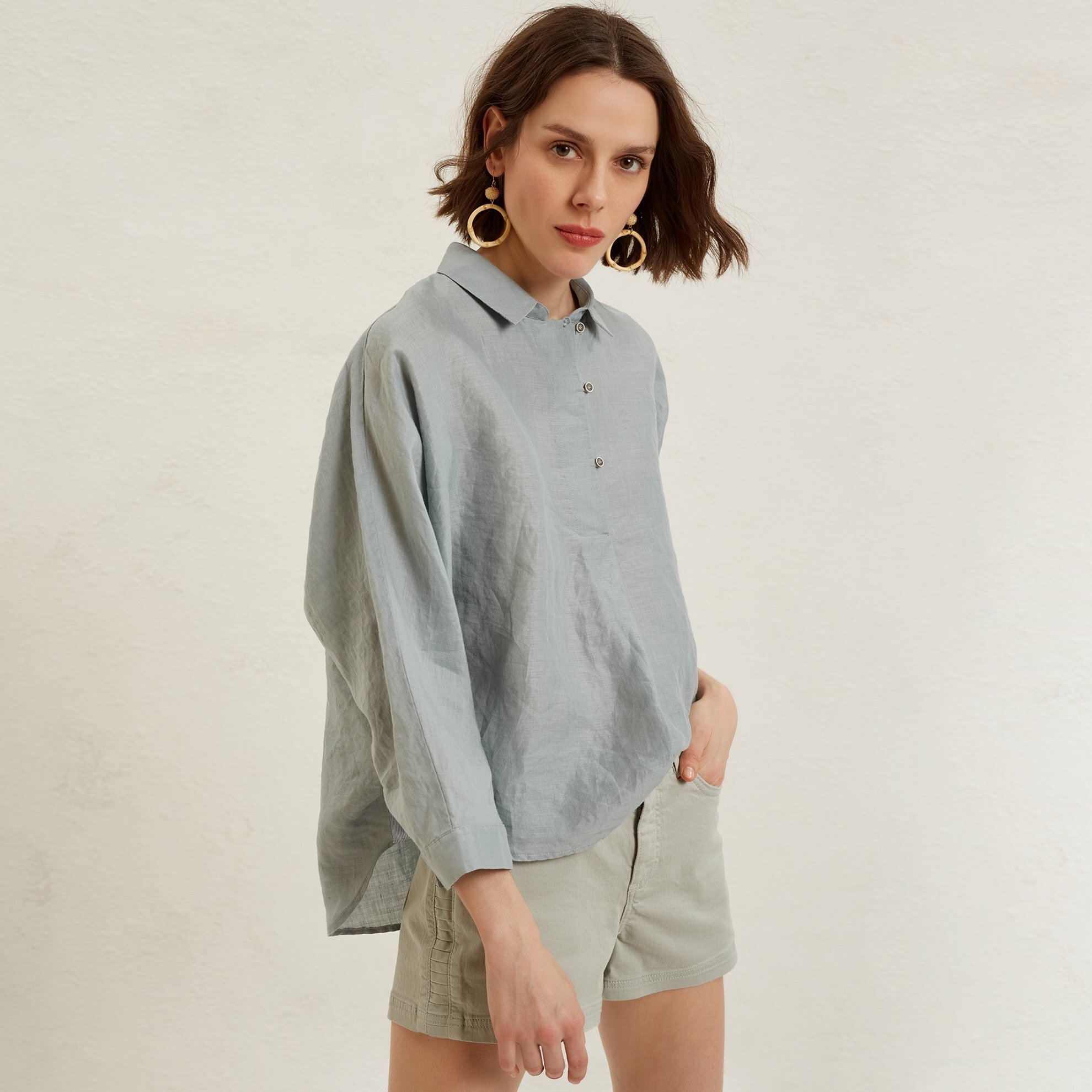 Placket Detailed Shirt