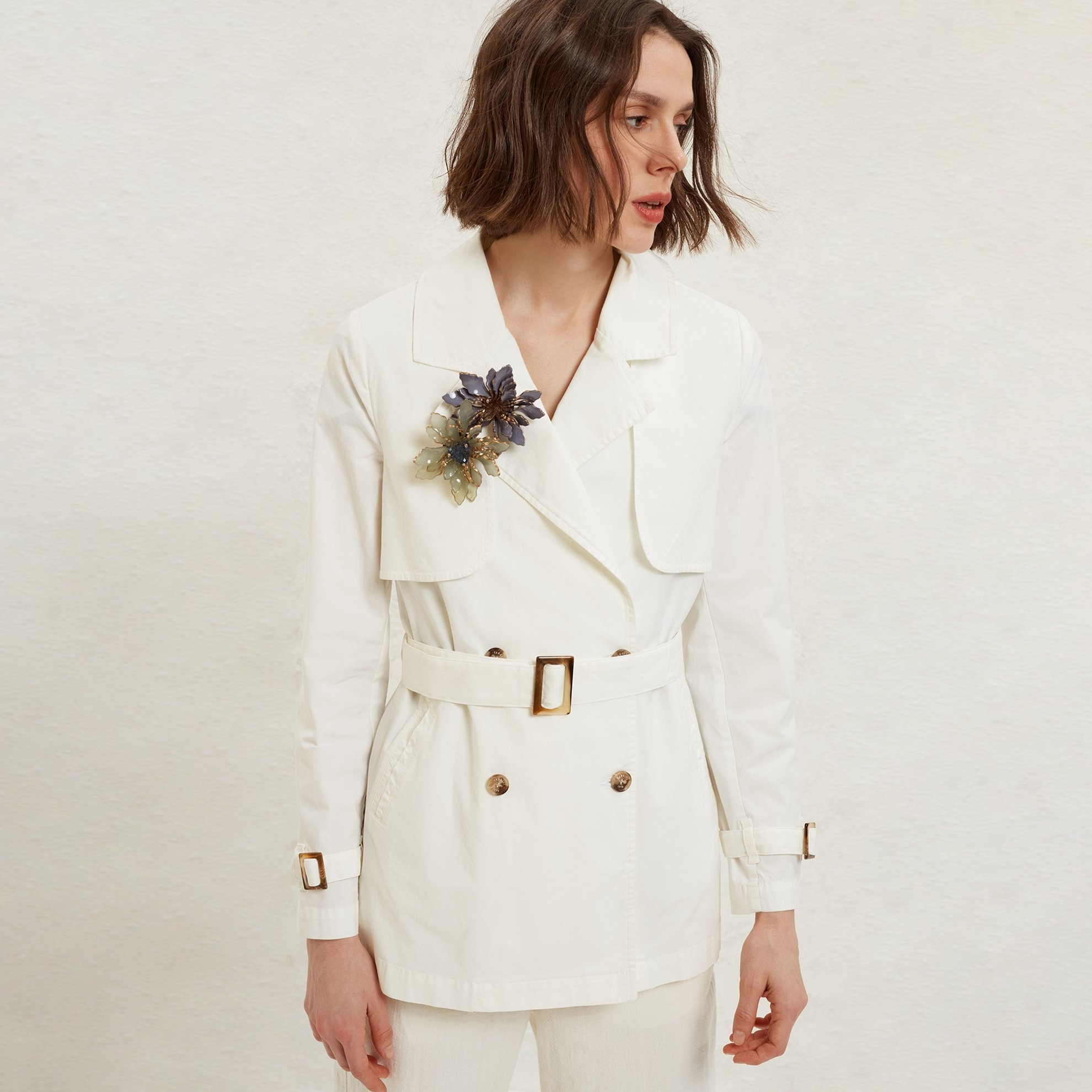 Stitch Detailed Trench