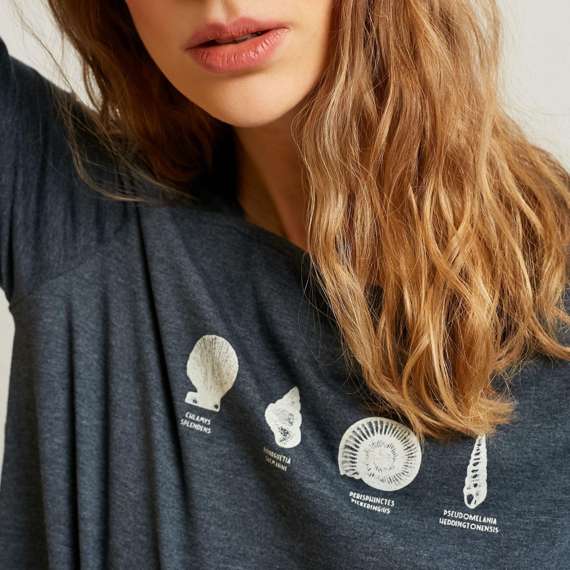 Square Neck Printed T-Shirt