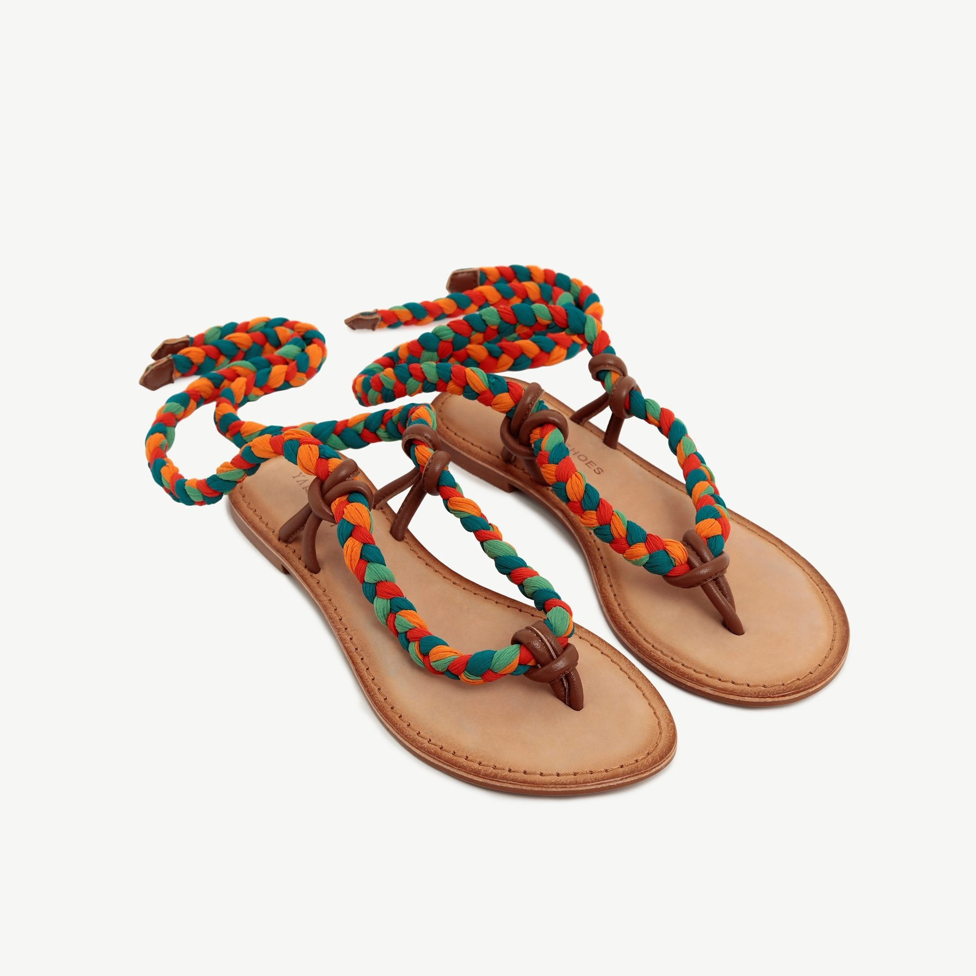 Leather Sandal Wtih Textile  Strap