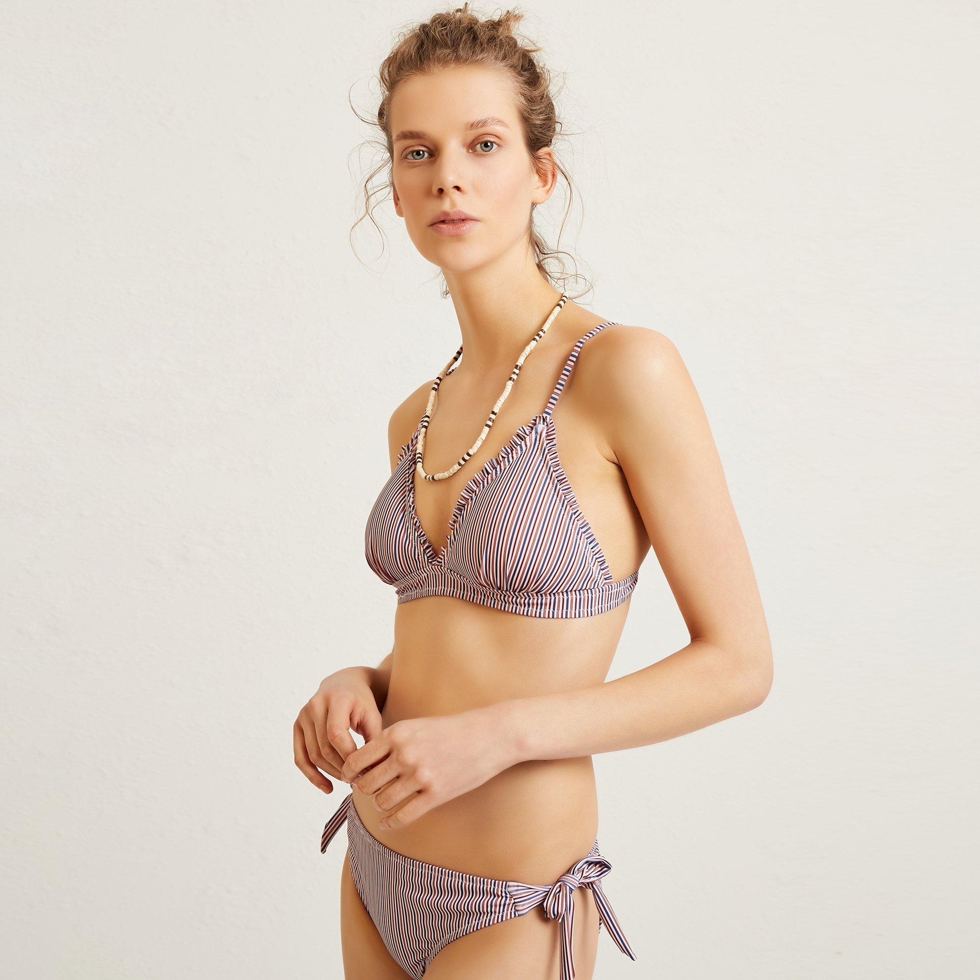 Bikini Top With Ruflle Detail